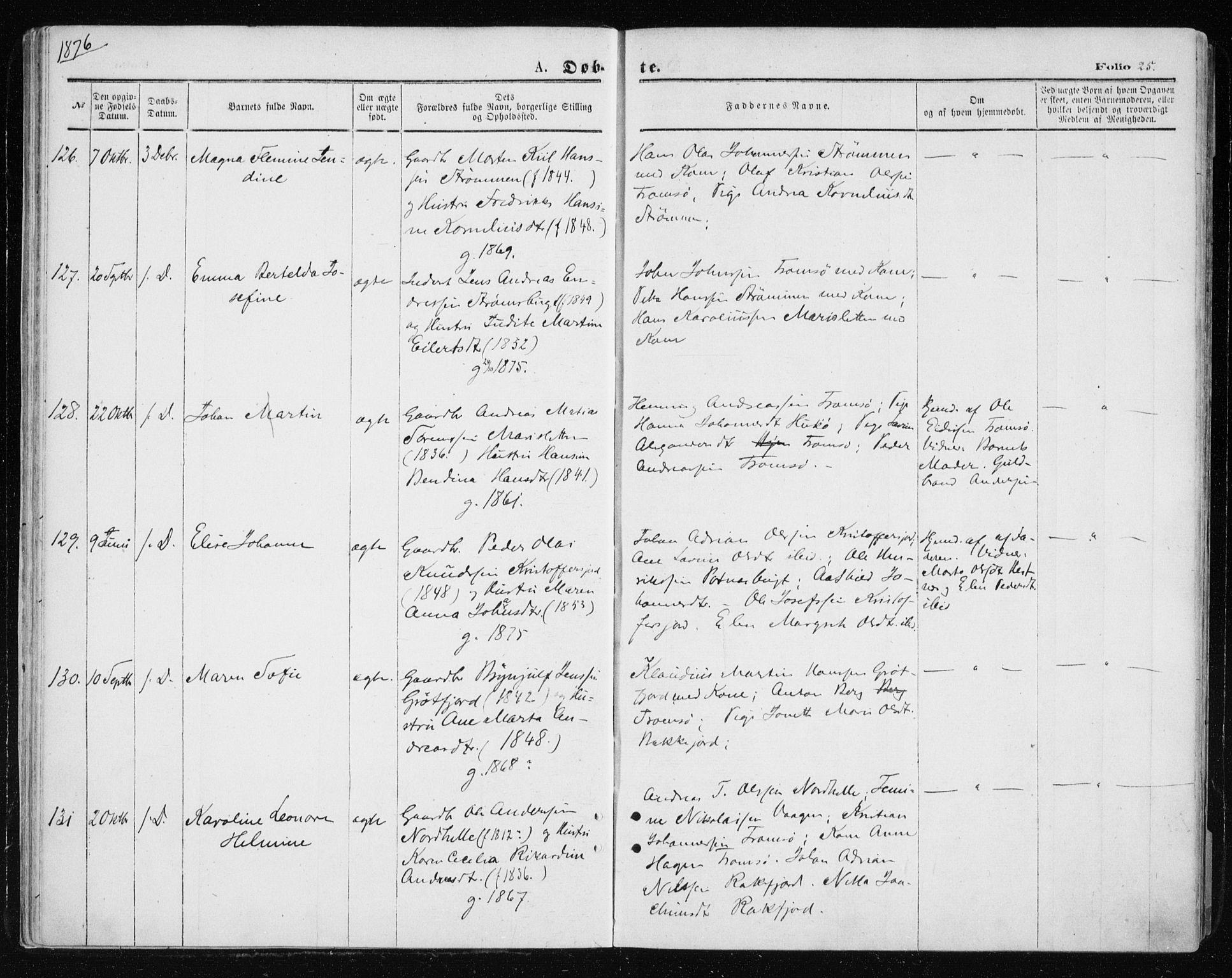 SATØ, Tromsøysund sokneprestkontor, G/Ga/L0003kirke: Parish register (official) no. 3, 1875-1880, p. 25