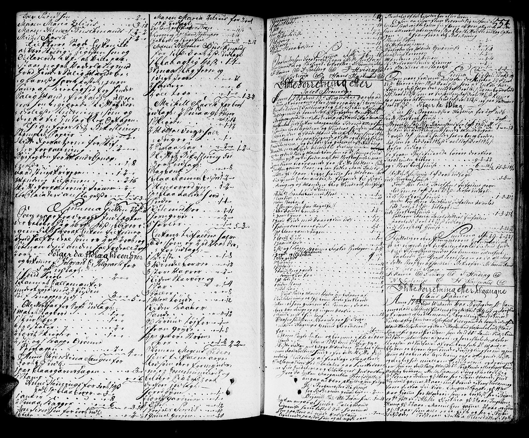 SAT, Trondheim byfogd, 3/3A/L0015: Skifteprotokoll - gml.nr.13b. (m/ register), 1739-1747, p. 553b-554a