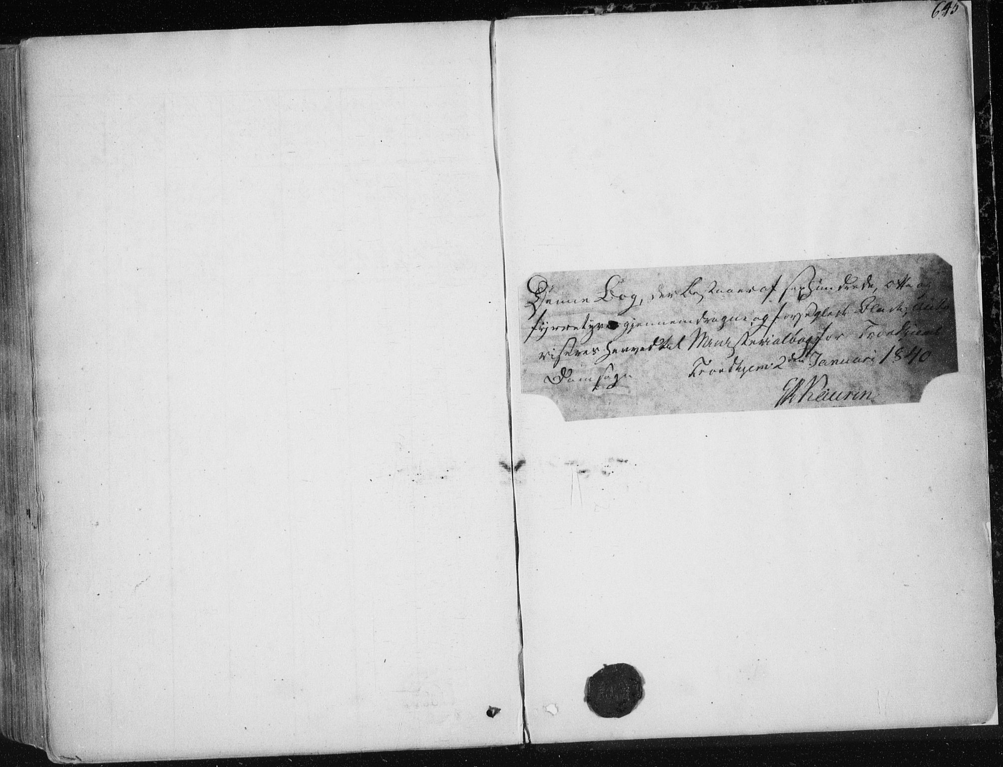 SAT, Ministerialprotokoller, klokkerbøker og fødselsregistre - Sør-Trøndelag, 601/L0049: Parish register (official) no. 601A17, 1839-1847, p. 645