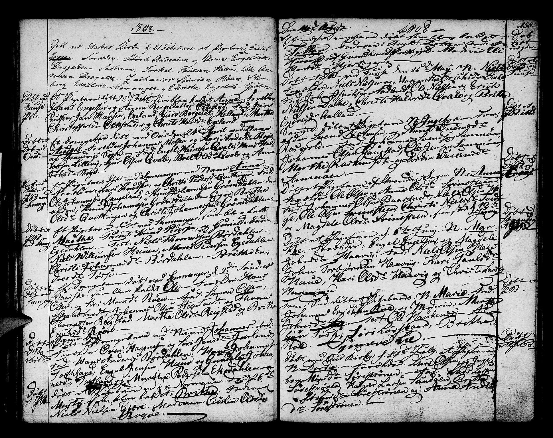 SAB, Os sokneprestembete*, Parish register (official) no. A 11, 1789-1815, p. 155