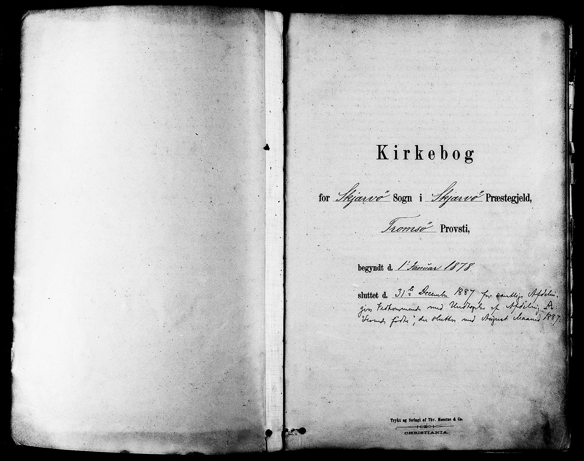 SATØ, Skjervøy sokneprestkontor, H/Ha/Haa/L0009kirke: Parish register (official) no. 9, 1878-1887