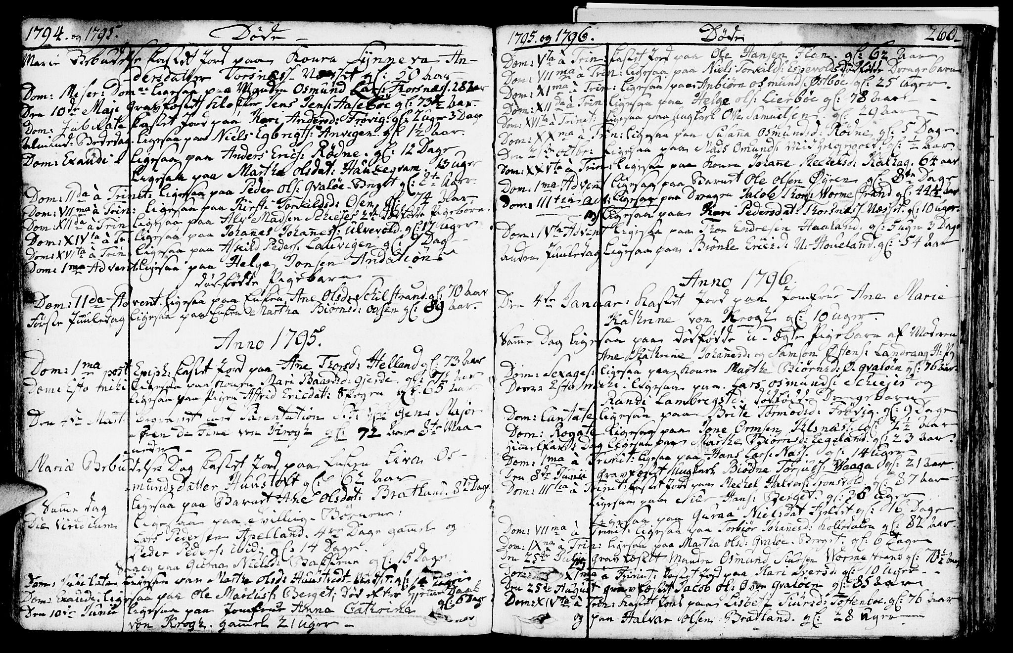 SAST, Vikedal sokneprestkontor, IV: Parish register (official) no. A 2, 1779-1817, p. 260