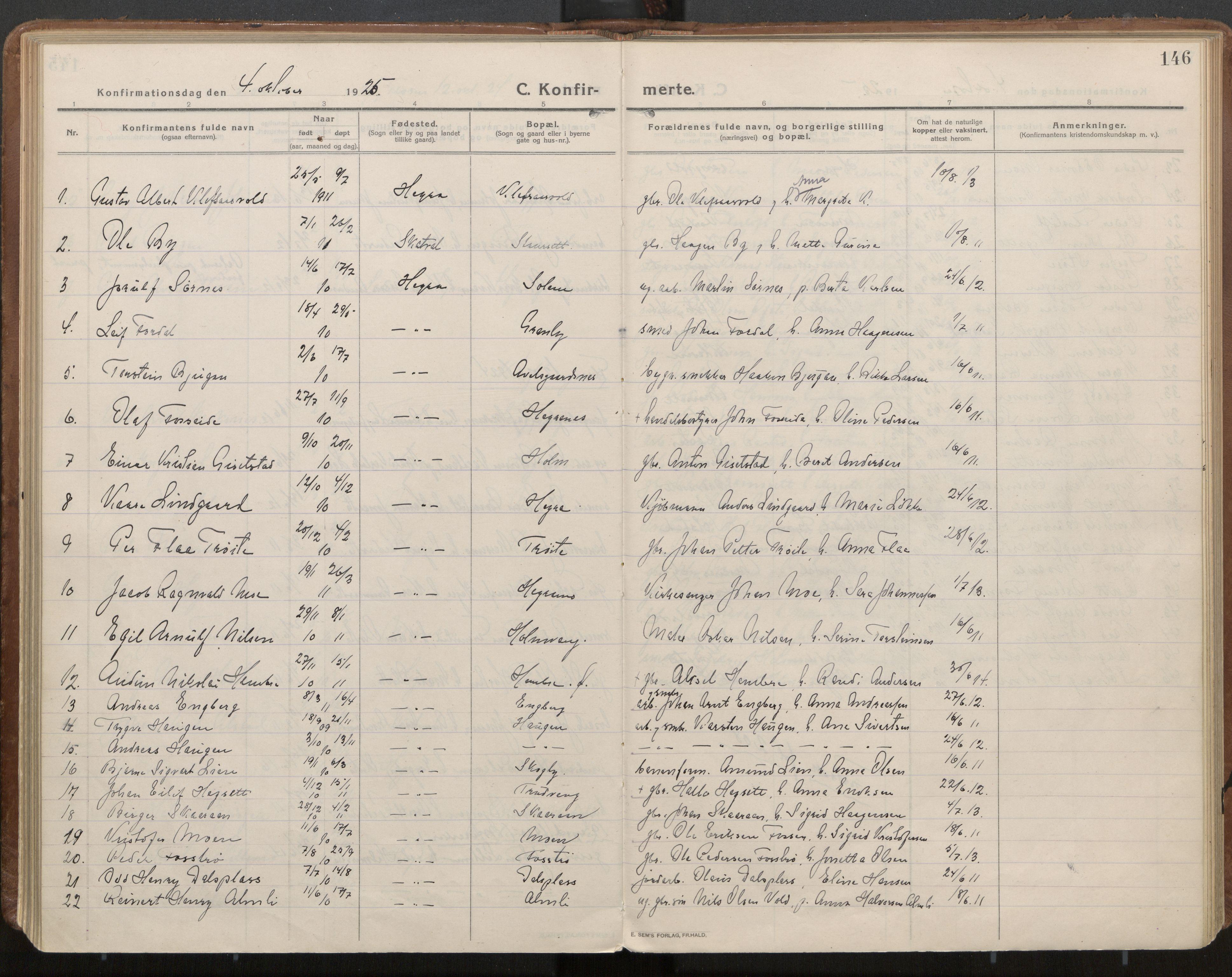 SAT, Ministerialprotokoller, klokkerbøker og fødselsregistre - Nord-Trøndelag, 703/L0037: Parish register (official) no. 703A10, 1915-1932, p. 146