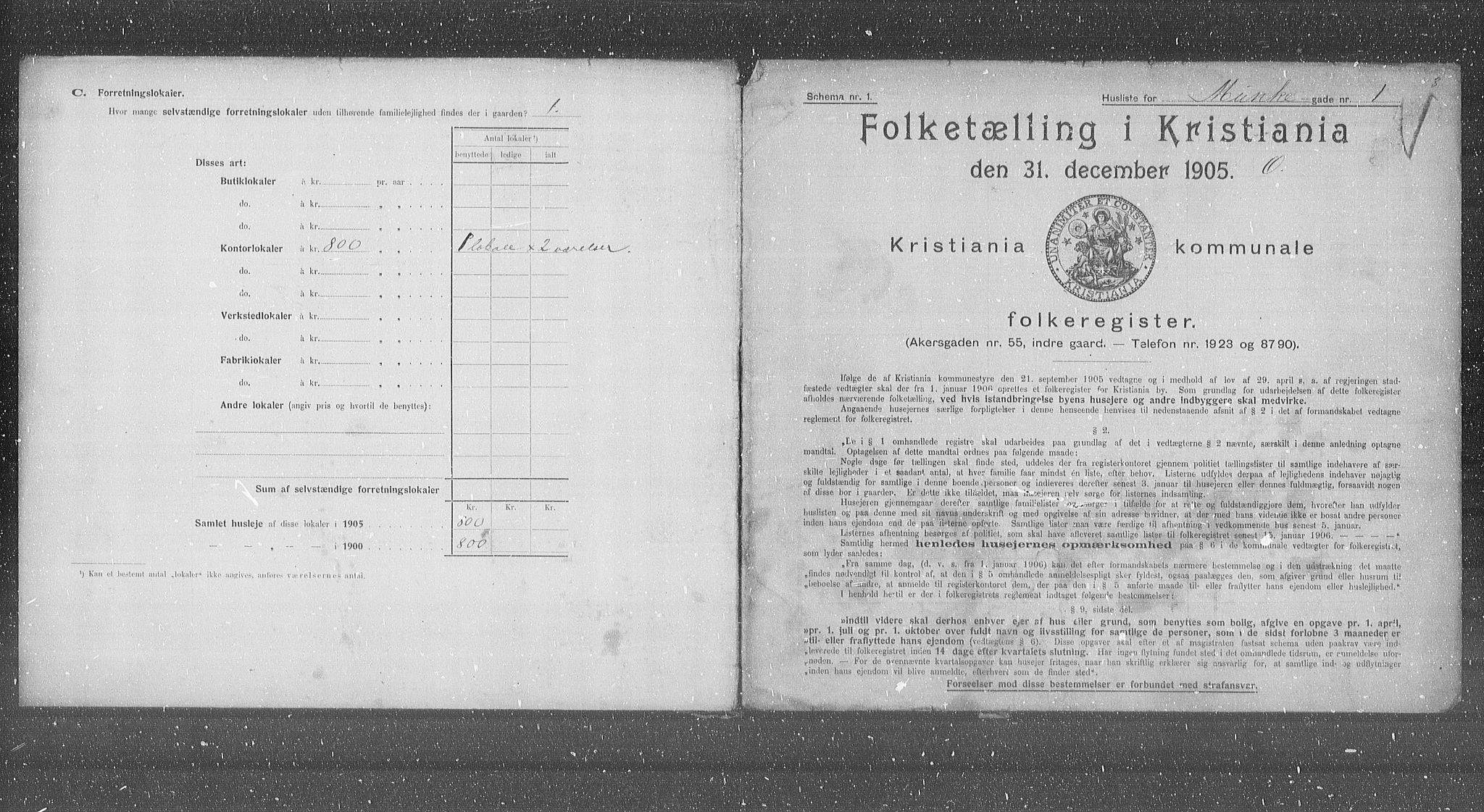 OBA, Municipal Census 1905 for Kristiania, 1905, p. 35689