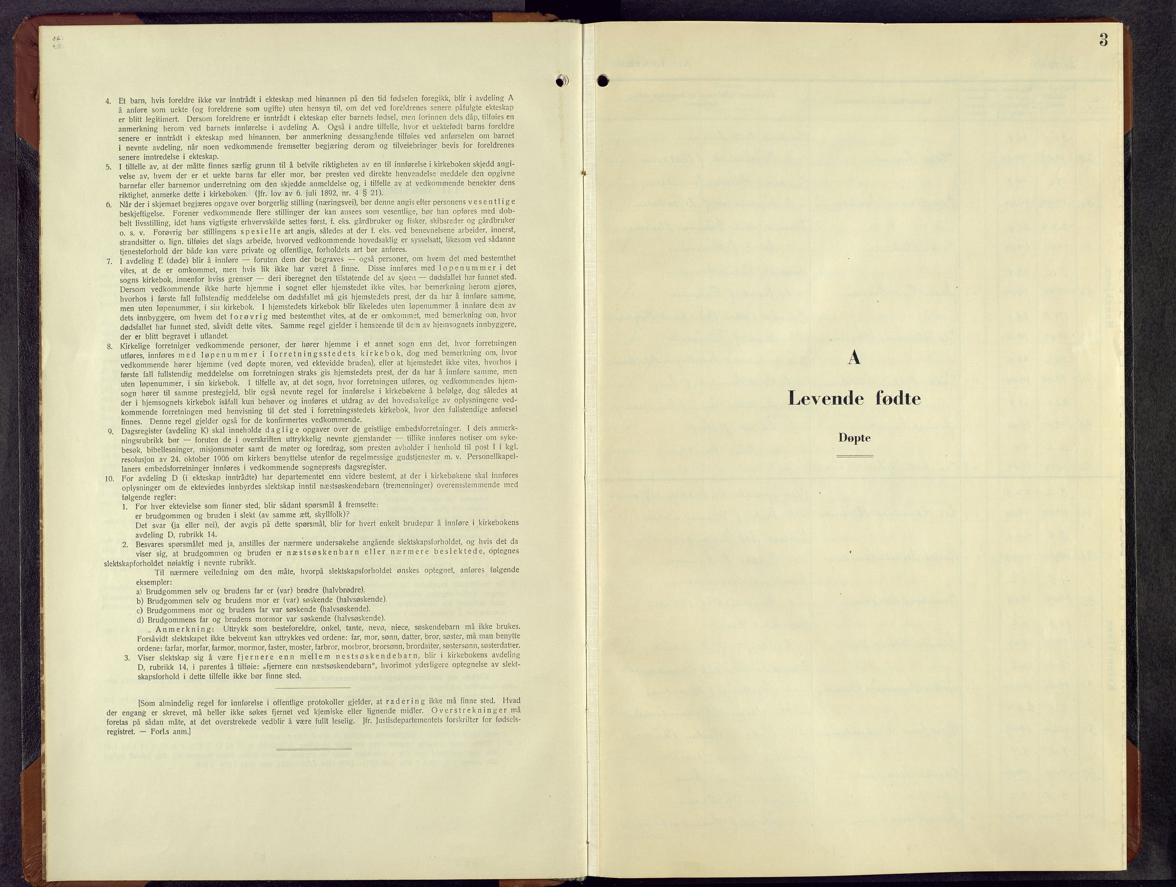 SAH, Fåberg prestekontor, H/Ha/Hab/L0019: Parish register (copy) no. 19, 1949-1968, p. 3