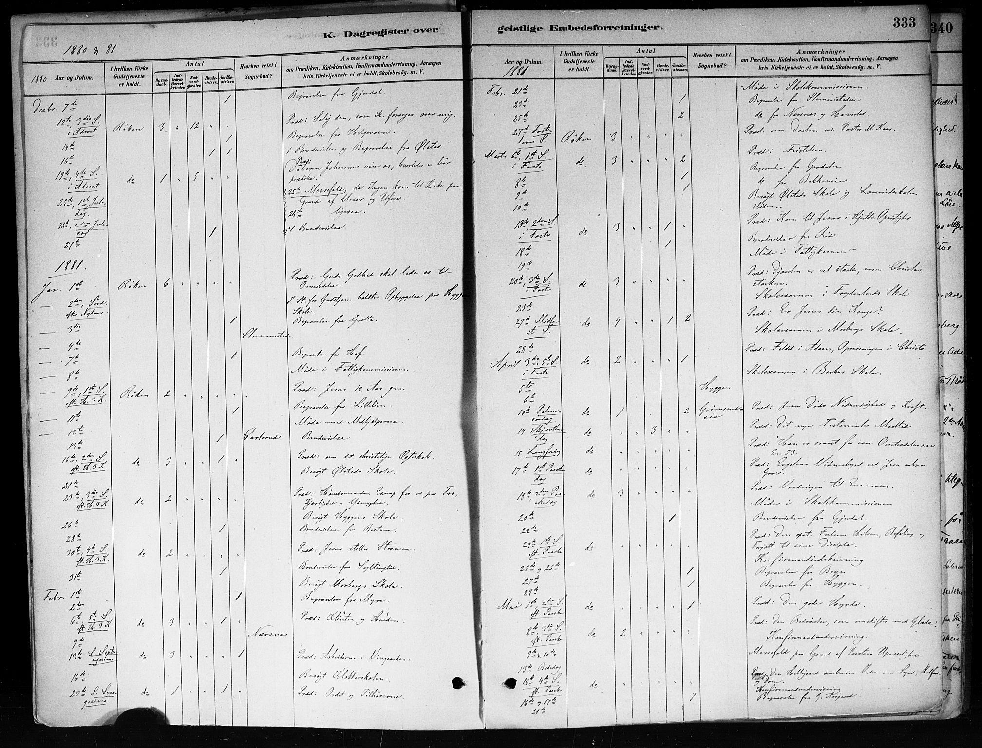 SAKO, Røyken kirkebøker, F/Fa/L0008: Parish register (official) no. 8, 1880-1897, p. 333