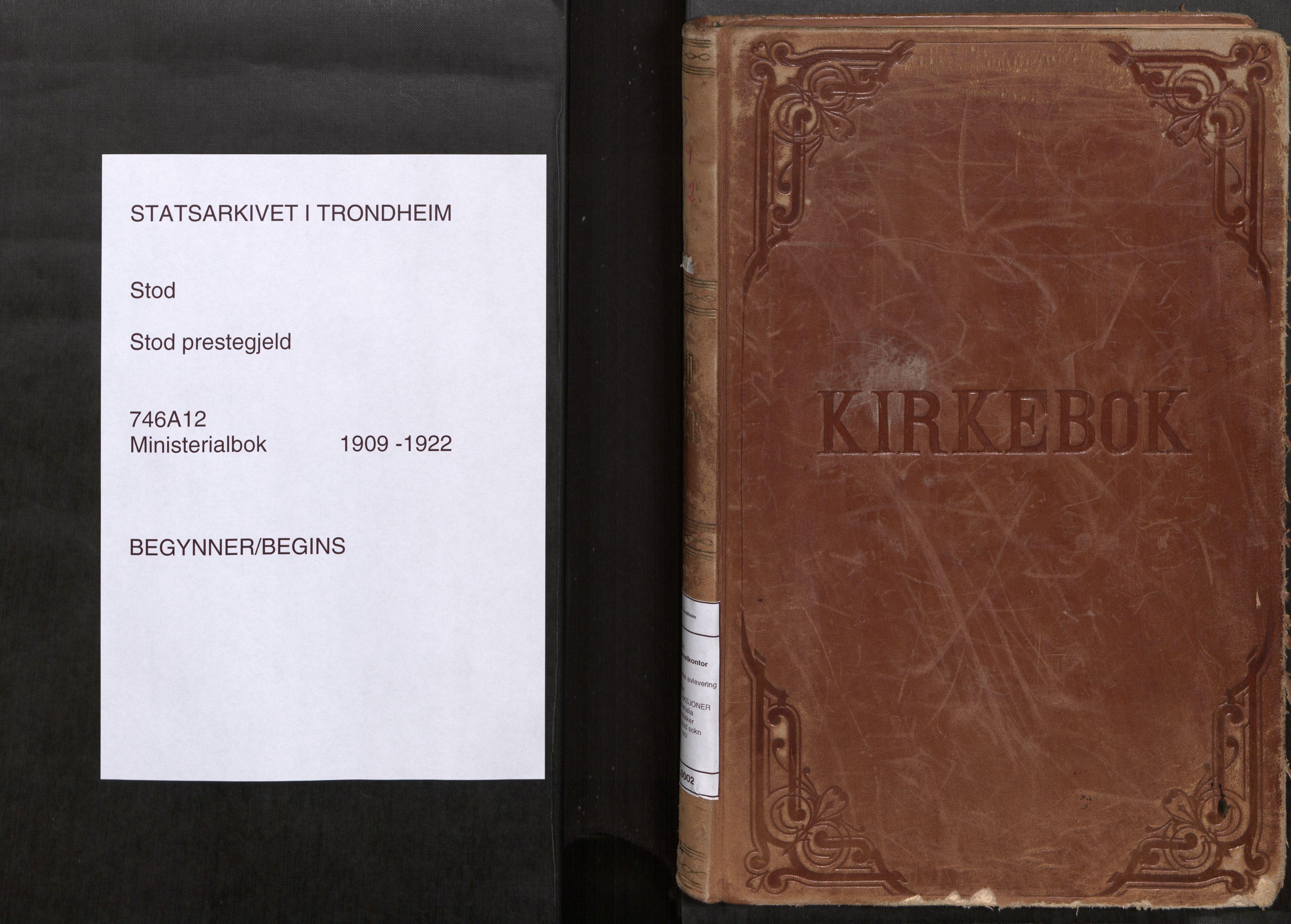 SAT, Stod sokneprestkontor, I/I1/I1a/L0002: Parish register (official) no. 2, 1909-1922