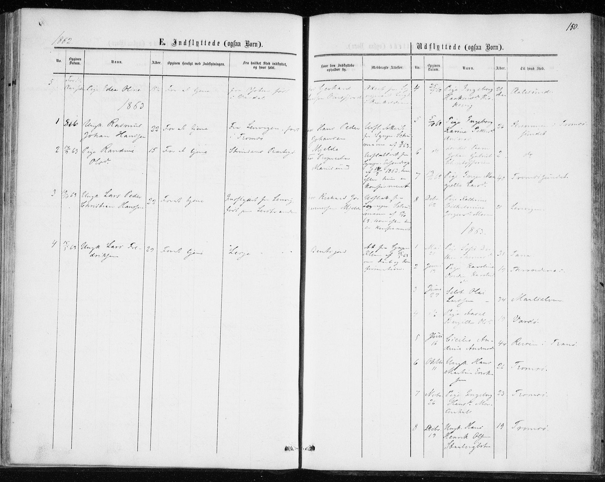 SATØ, Balsfjord sokneprestembete, Parish register (official) no. 1, 1858-1870, p. 150