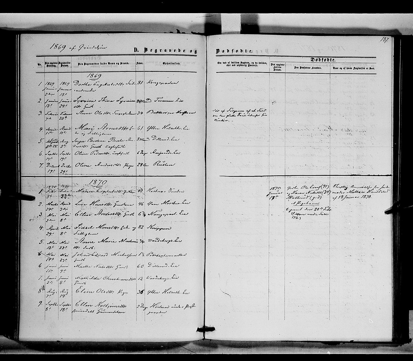 SAH, Stange prestekontor, K/L0014: Parish register (official) no. 14, 1862-1879, p. 187