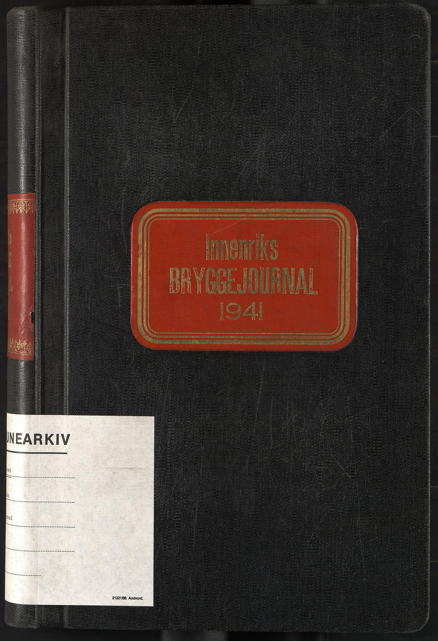 OBA, Oslo havnevesen, Fa/Fad/L0053: Innenriks bryggejournal, 1941