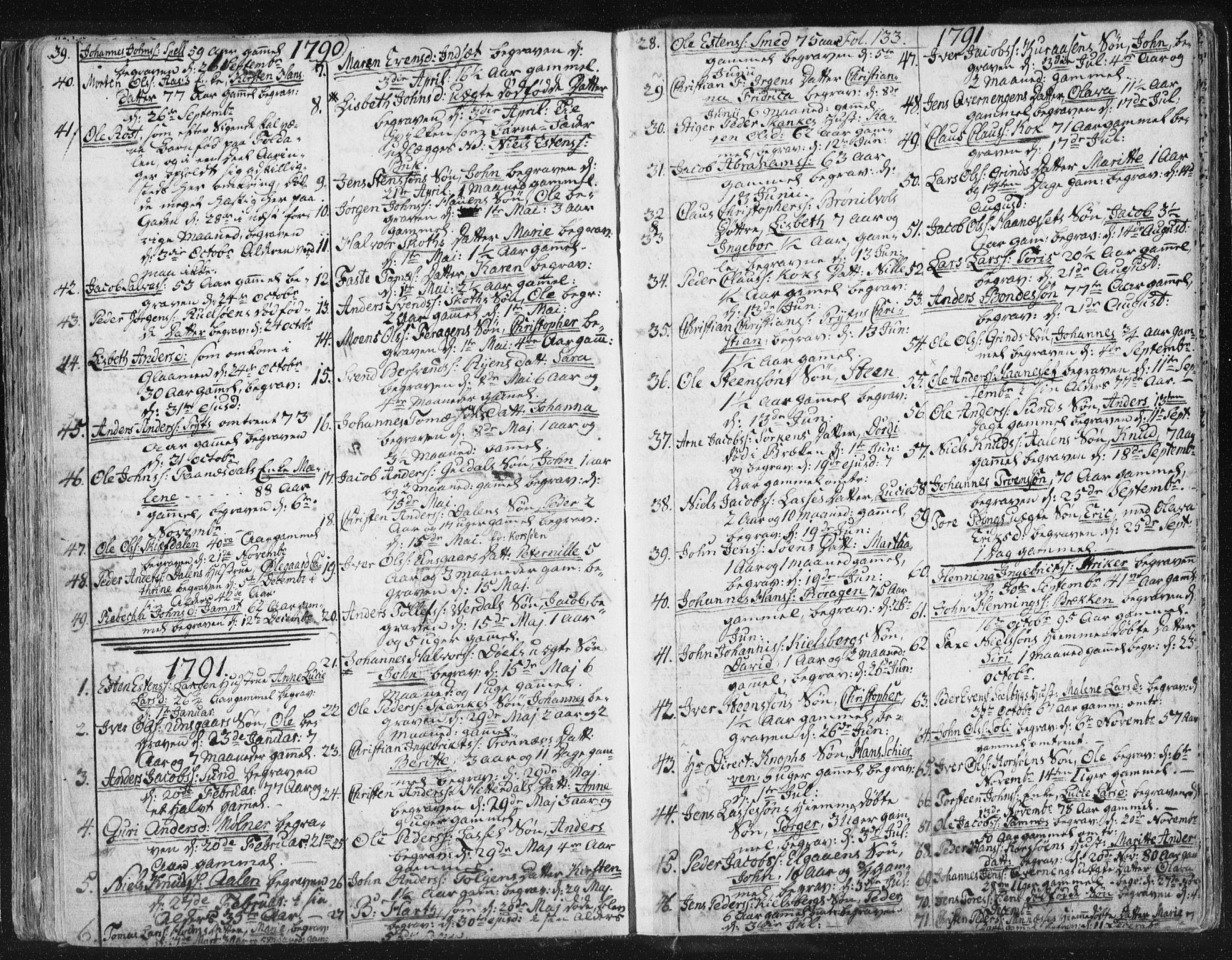 SAT, Ministerialprotokoller, klokkerbøker og fødselsregistre - Sør-Trøndelag, 681/L0926: Parish register (official) no. 681A04, 1767-1797, p. 133