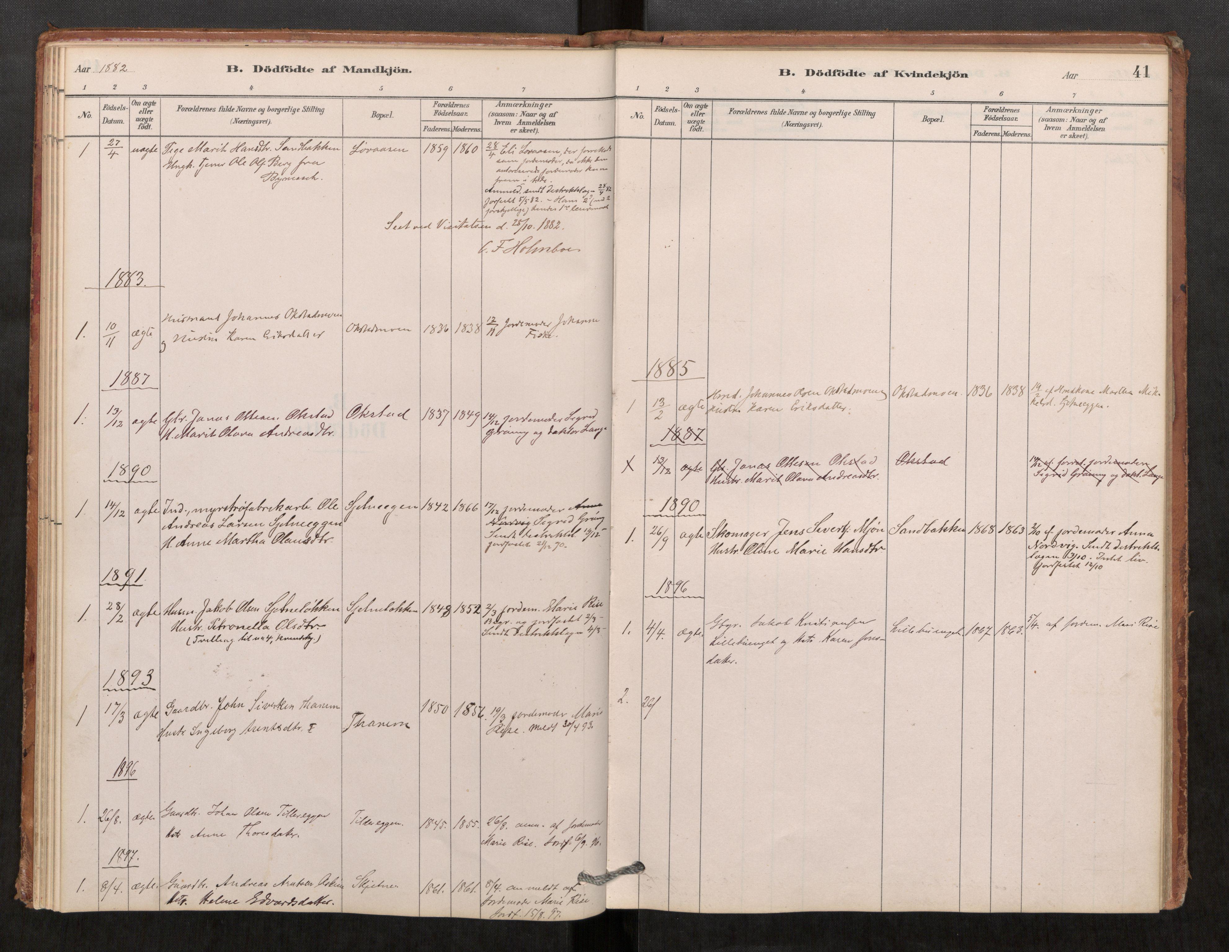 SAT, Klæbu sokneprestkontor, Parish register (official) no. 1, 1880-1900, p. 41