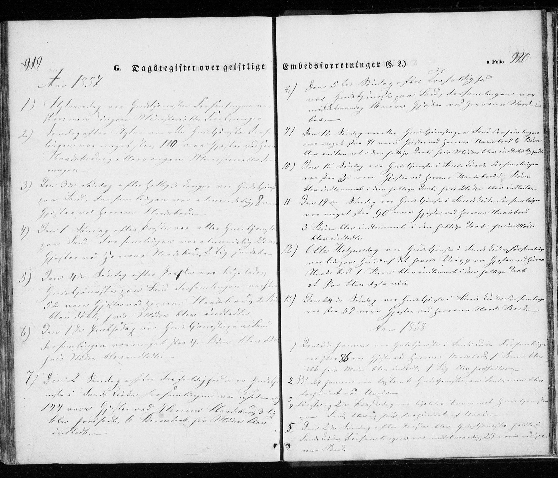 SATØ, Trondenes sokneprestkontor, H/Ha/L0010kirke: Parish register (official) no. 10, 1840-1865, p. 919-920