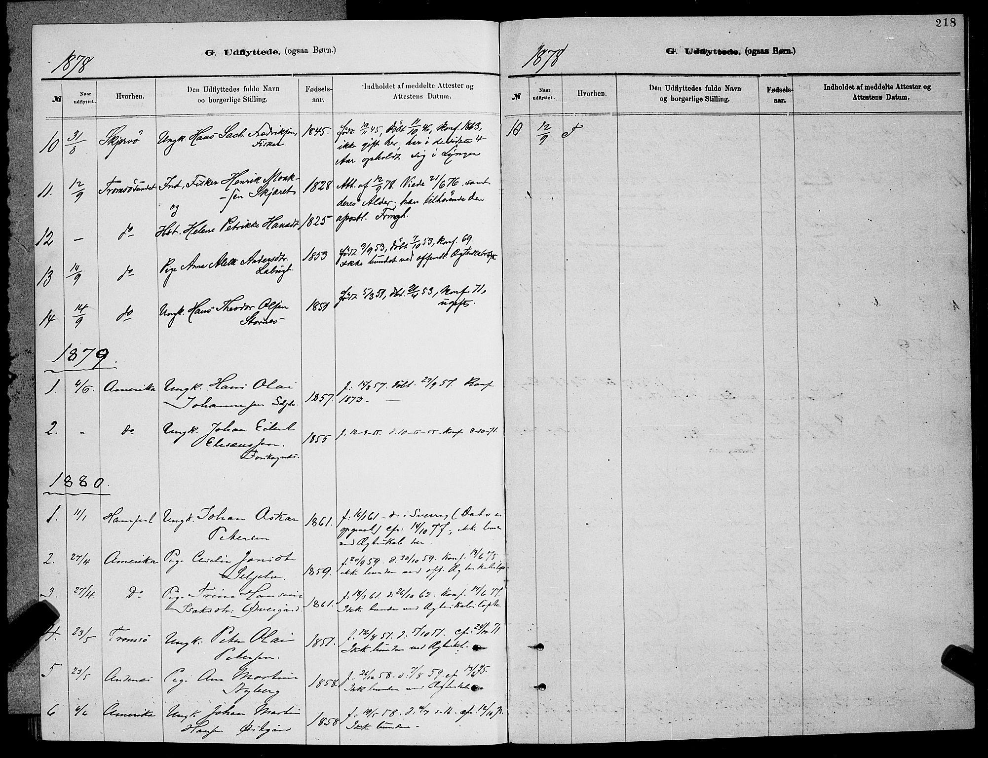SATØ, Balsfjord sokneprestembete, Parish register (copy) no. 7, 1878-1889, p. 218