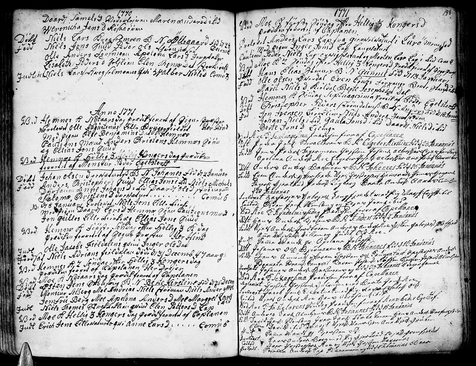 SAT, Ministerialprotokoller, klokkerbøker og fødselsregistre - Nordland, 825/L0348: Parish register (official) no. 825A04, 1752-1788, p. 198