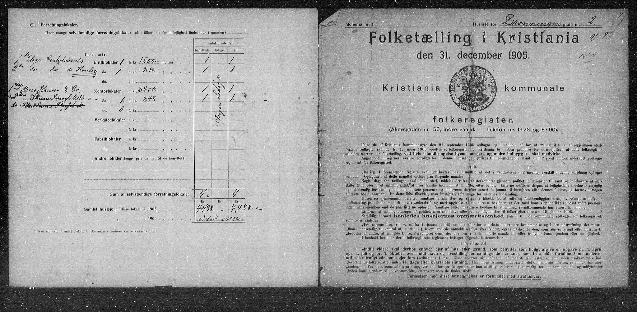 OBA, Municipal Census 1905 for Kristiania, 1905, p. 8939