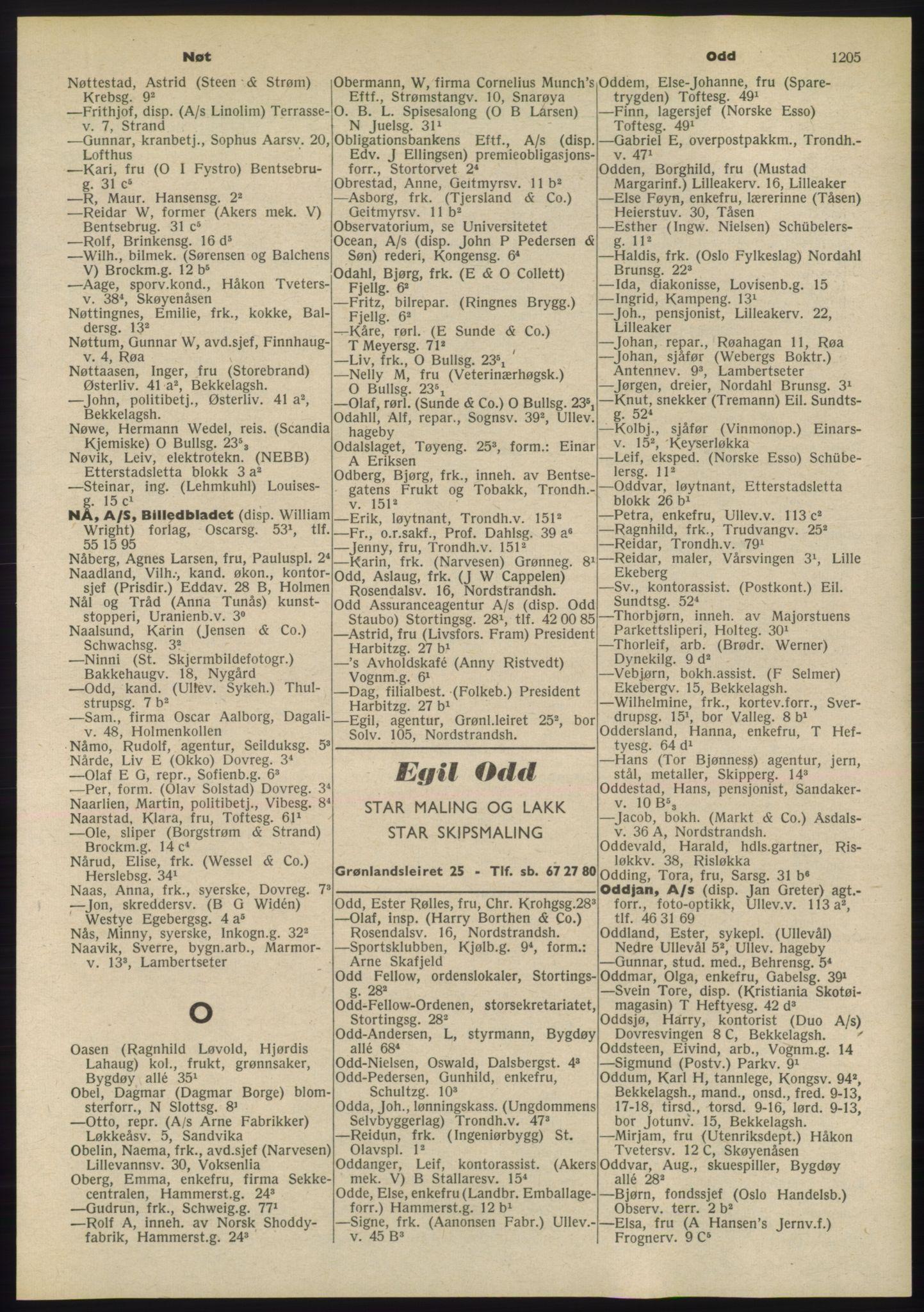 PUBL, Kristiania/Oslo adressebok, 1955, p. 1205