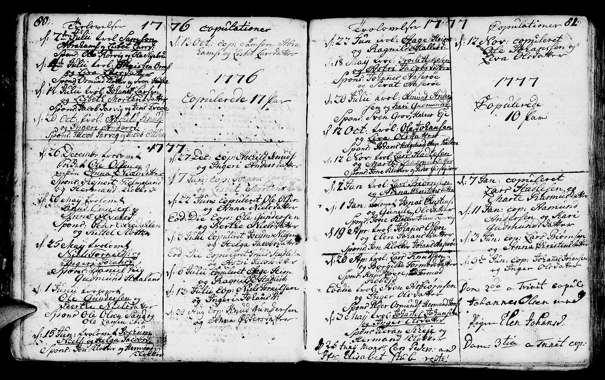 SAST, Jelsa sokneprestkontor, IV: Parish register (official) no. A 3, 1768-1796, p. 80-81