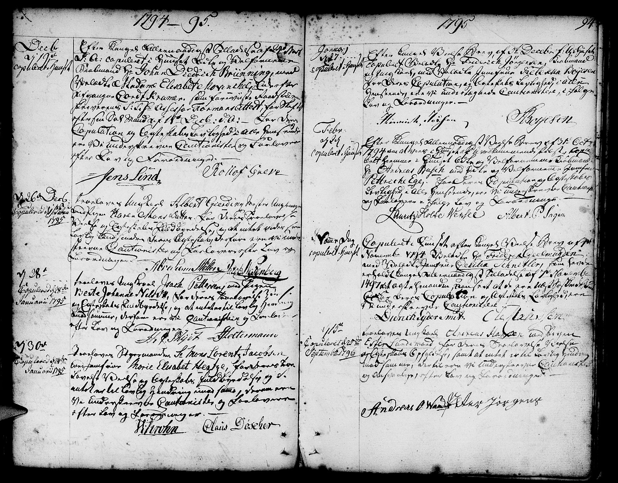 SAB, Nykirken Sokneprestembete, H/Haa: Parish register (official) no. A 8, 1776-1814, p. 94