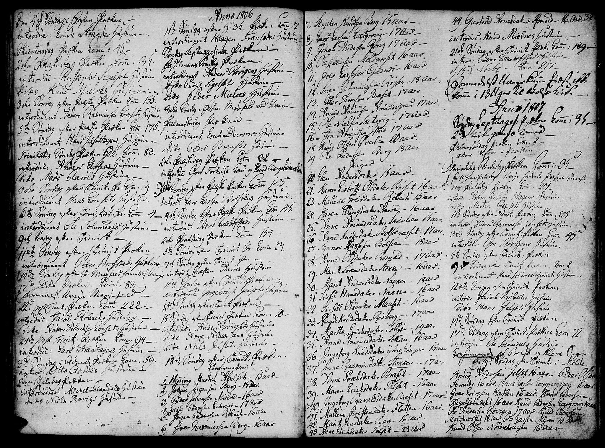 SAT, Ministerialprotokoller, klokkerbøker og fødselsregistre - Møre og Romsdal, 555/L0649: Parish register (official) no. 555A02 /1, 1795-1821, p. 32