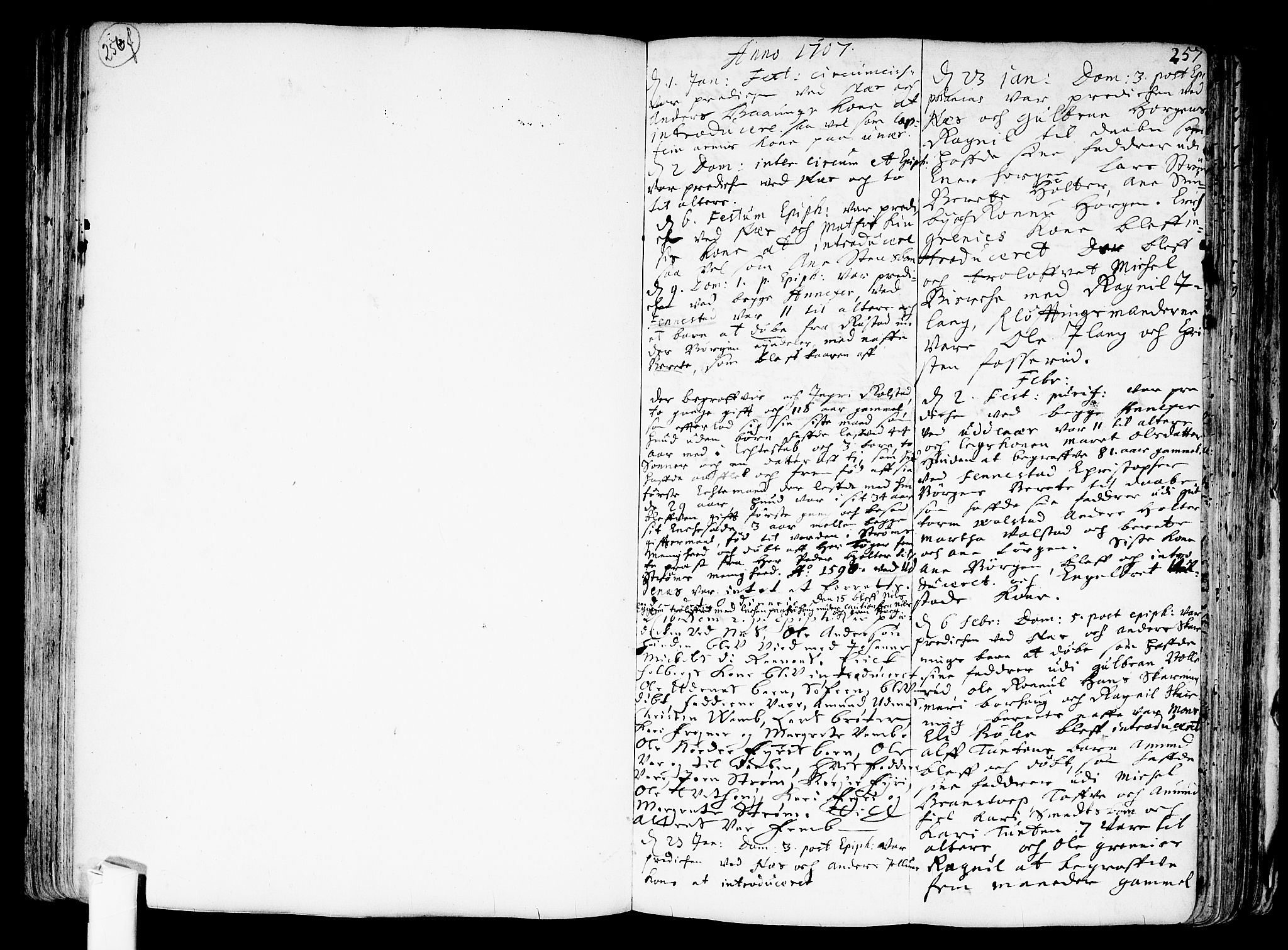 SAO, Nes prestekontor Kirkebøker, F/Fa/L0001: Parish register (official) no. I 1, 1689-1716, p. 257