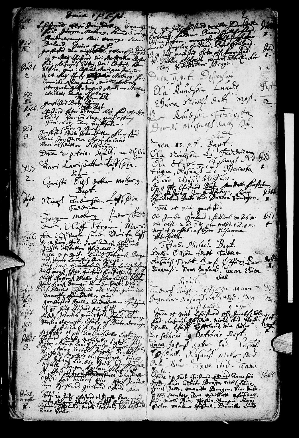 SAB, Os sokneprestembete*, Parish register (official) no. A 1, 1669-1722, p. 2