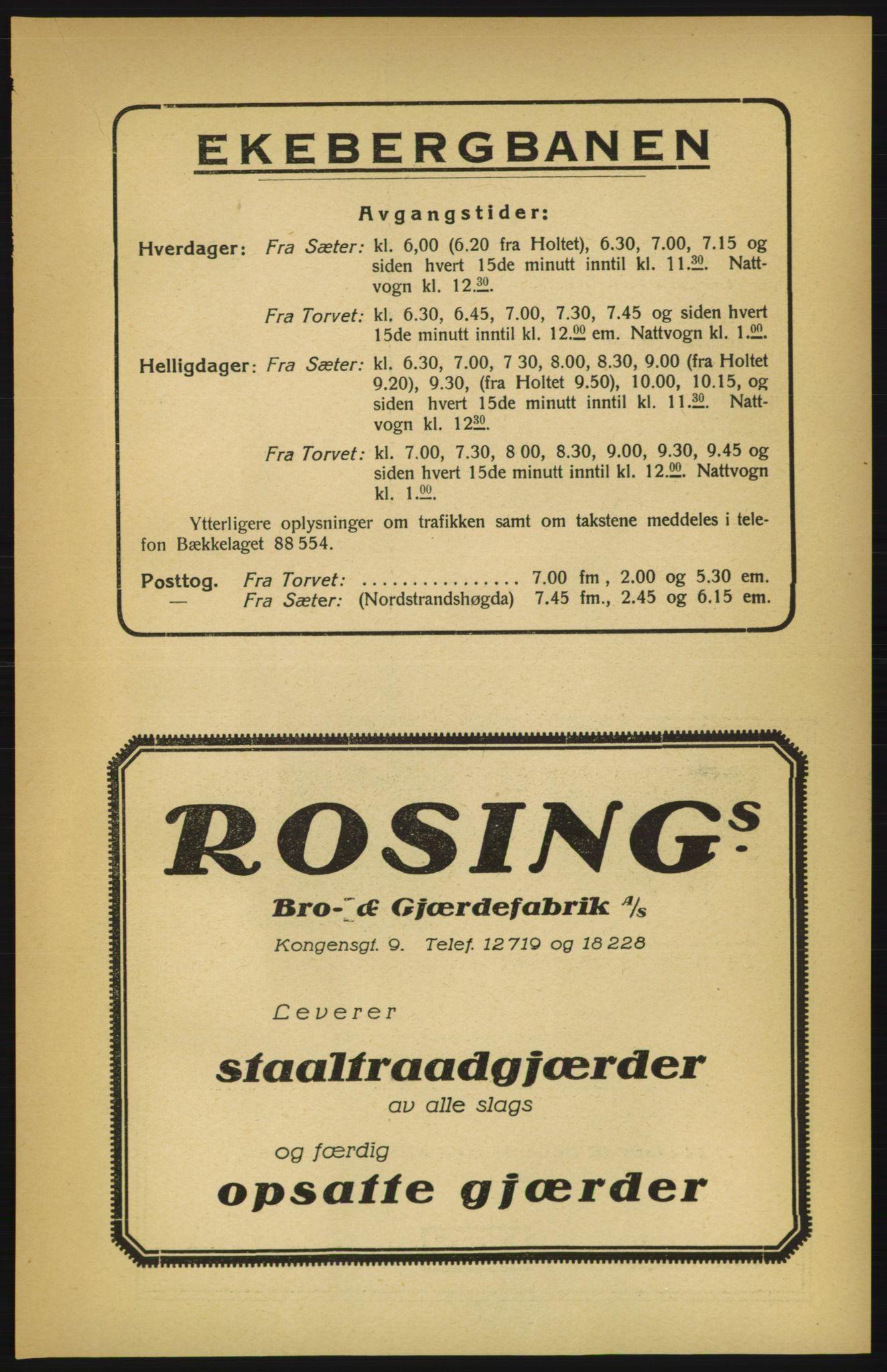 RA, Aker adressebok/adressekalender (publikasjon)*, 1924-1925