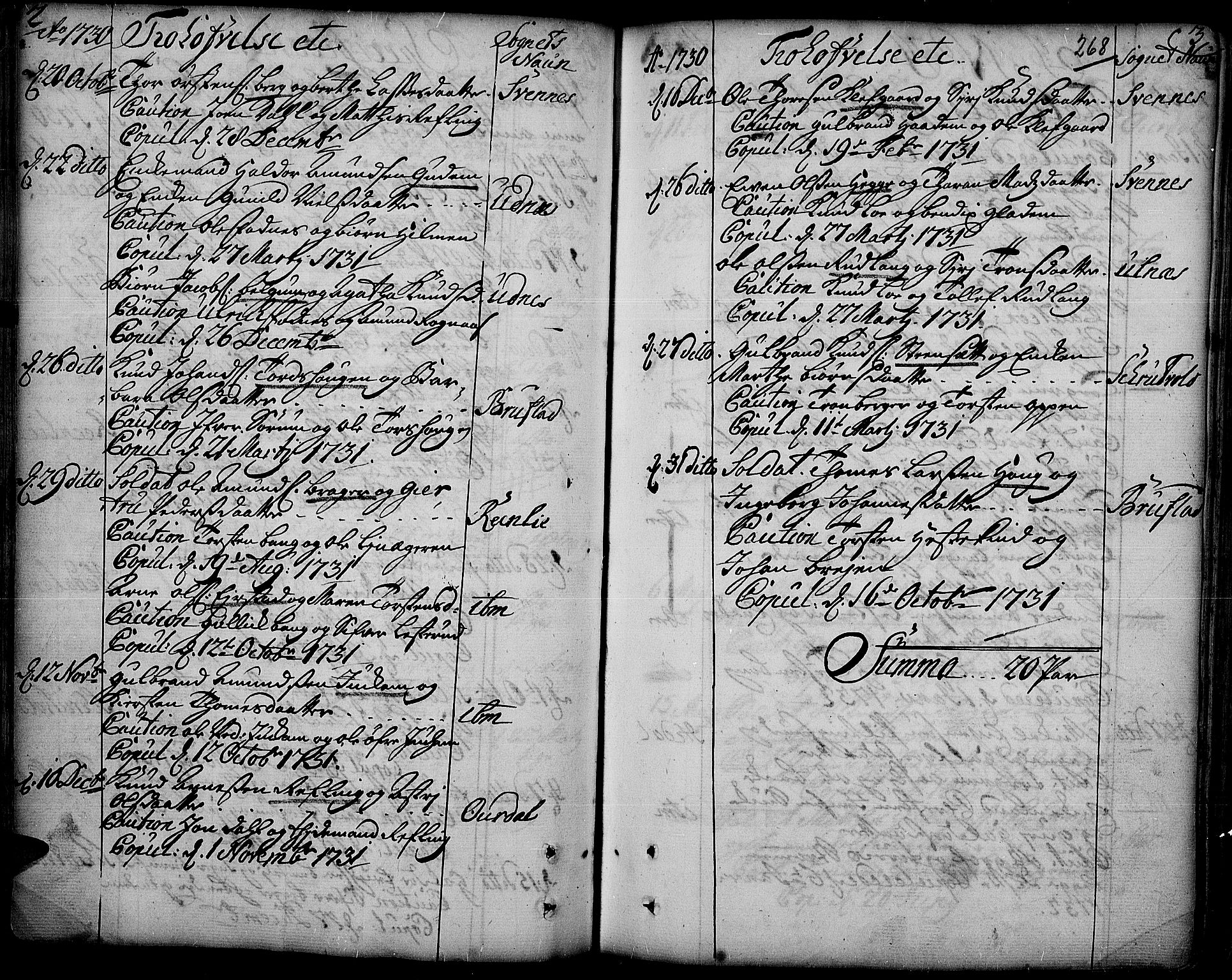 SAH, Aurdal prestekontor, Parish register (official) no. 4, 1730-1762, p. 2-3