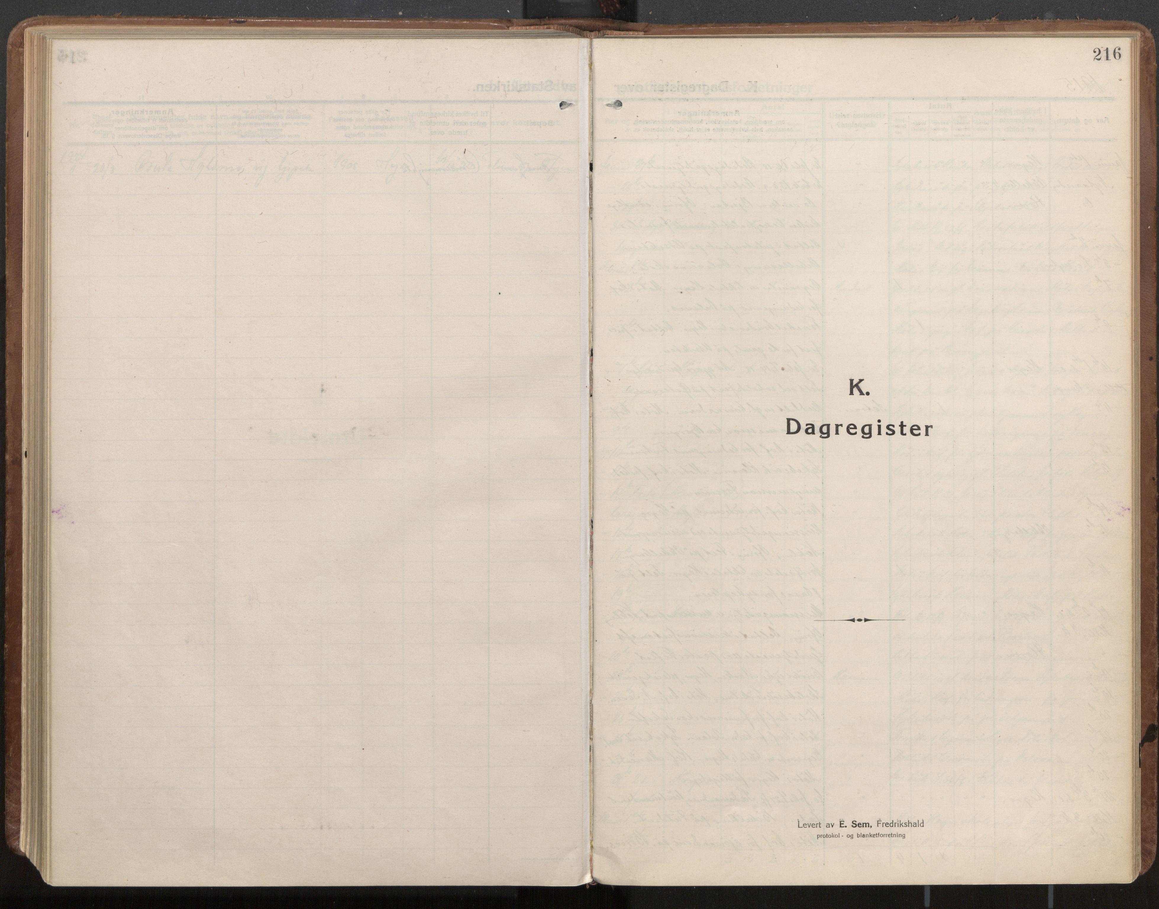 SAT, Ministerialprotokoller, klokkerbøker og fødselsregistre - Nord-Trøndelag, 703/L0037: Parish register (official) no. 703A10, 1915-1932, p. 216