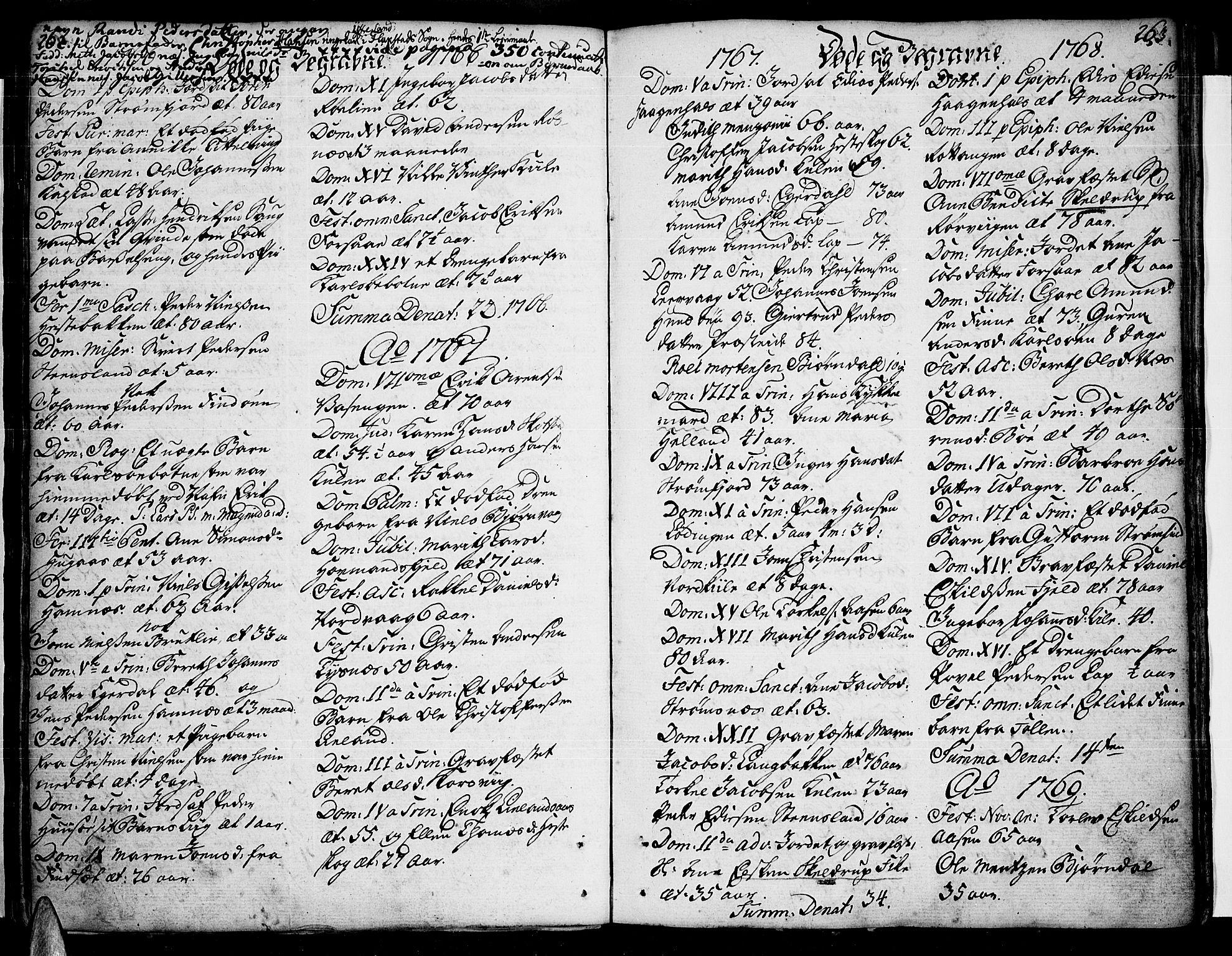 SAT, Ministerialprotokoller, klokkerbøker og fødselsregistre - Nordland, 859/L0841: Parish register (official) no. 859A01, 1766-1821, p. 262-263