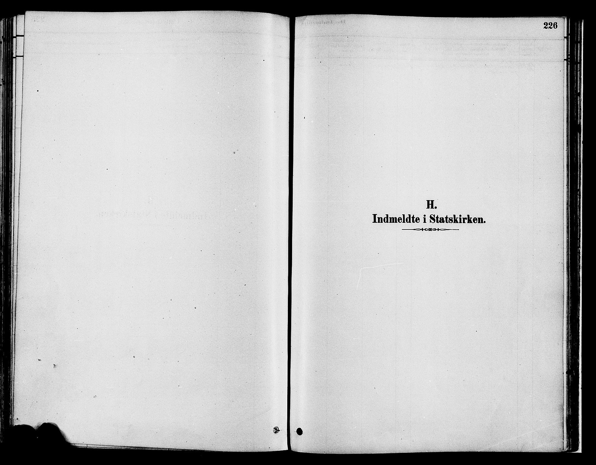 SAH, Gran prestekontor, Parish register (official) no. 14, 1880-1889, p. 226