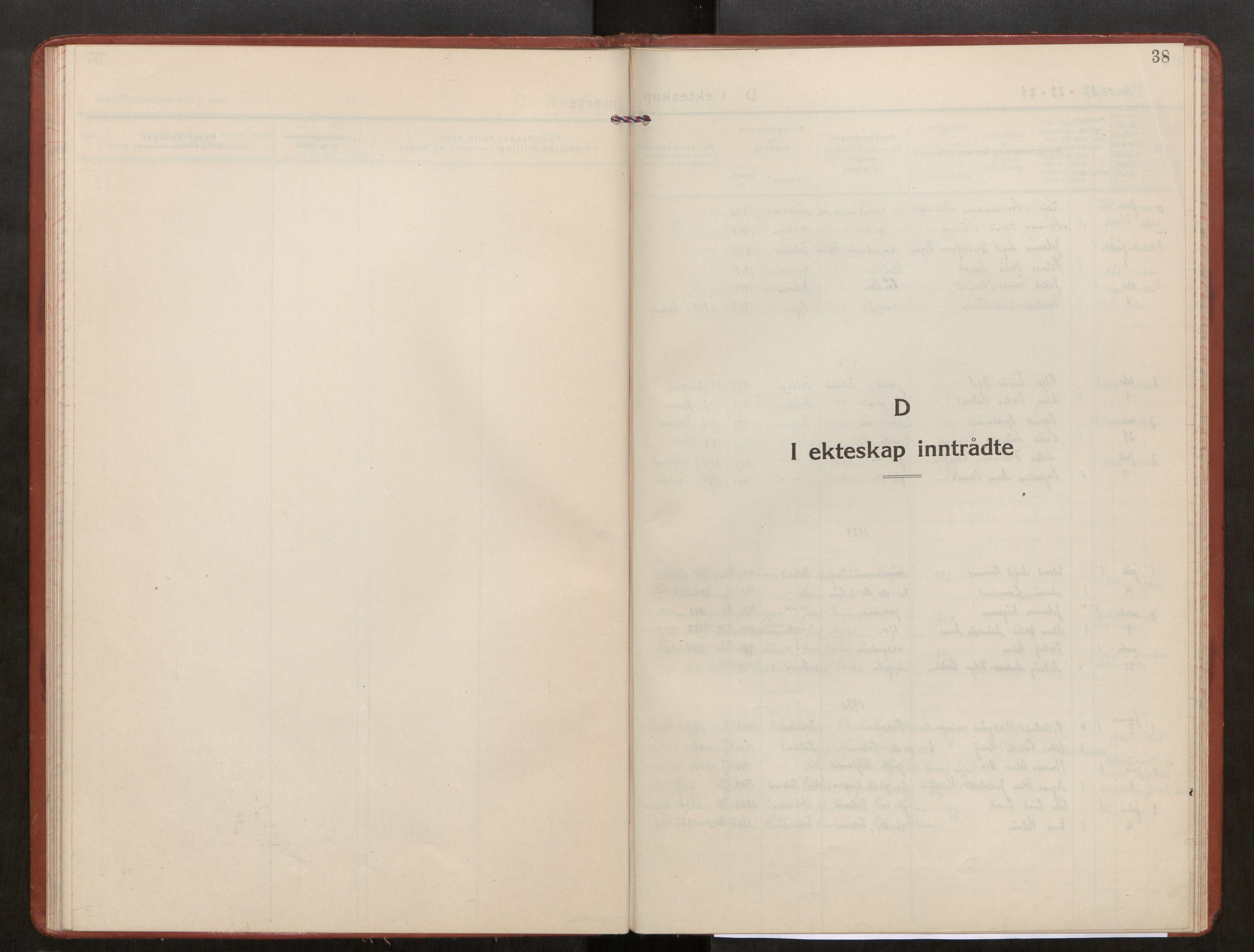 SAT, Kolvereid sokneprestkontor, H/Ha/Haa/L0003: Parish register (official) no. 3, 1927-1935, p. 38