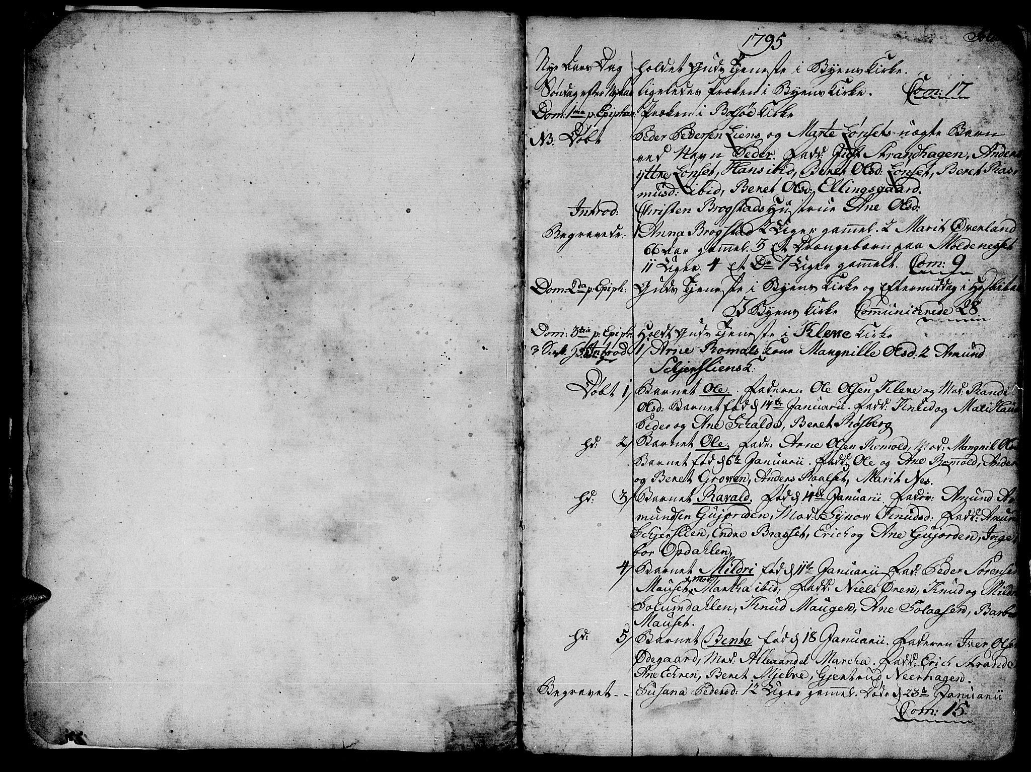 SAT, Ministerialprotokoller, klokkerbøker og fødselsregistre - Møre og Romsdal, 555/L0649: Parish register (official) no. 555A02 /1, 1795-1821, p. 1