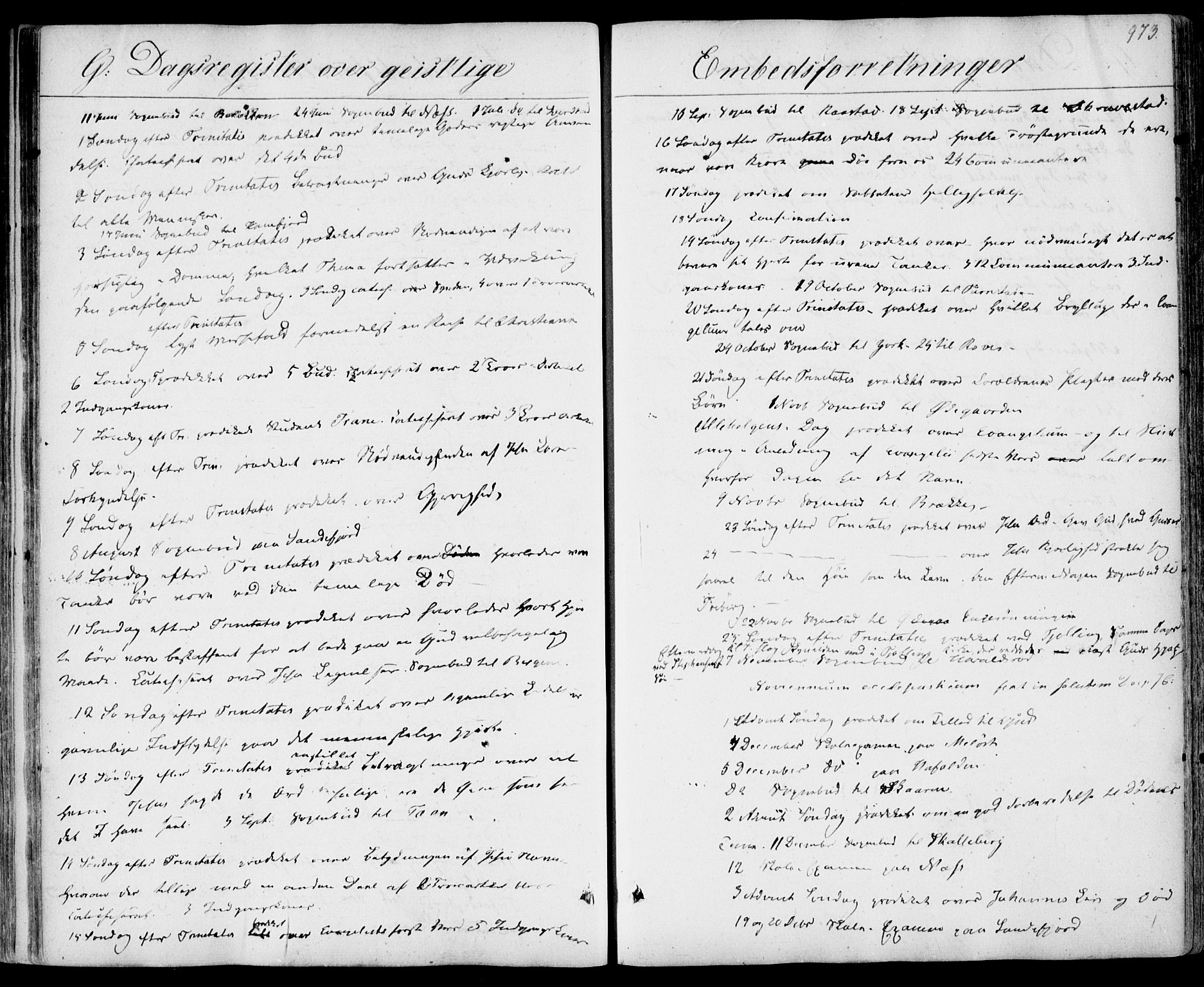 SAKO, Sandar kirkebøker, F/Fa/L0005: Parish register (official) no. 5, 1832-1847, p. 972-973