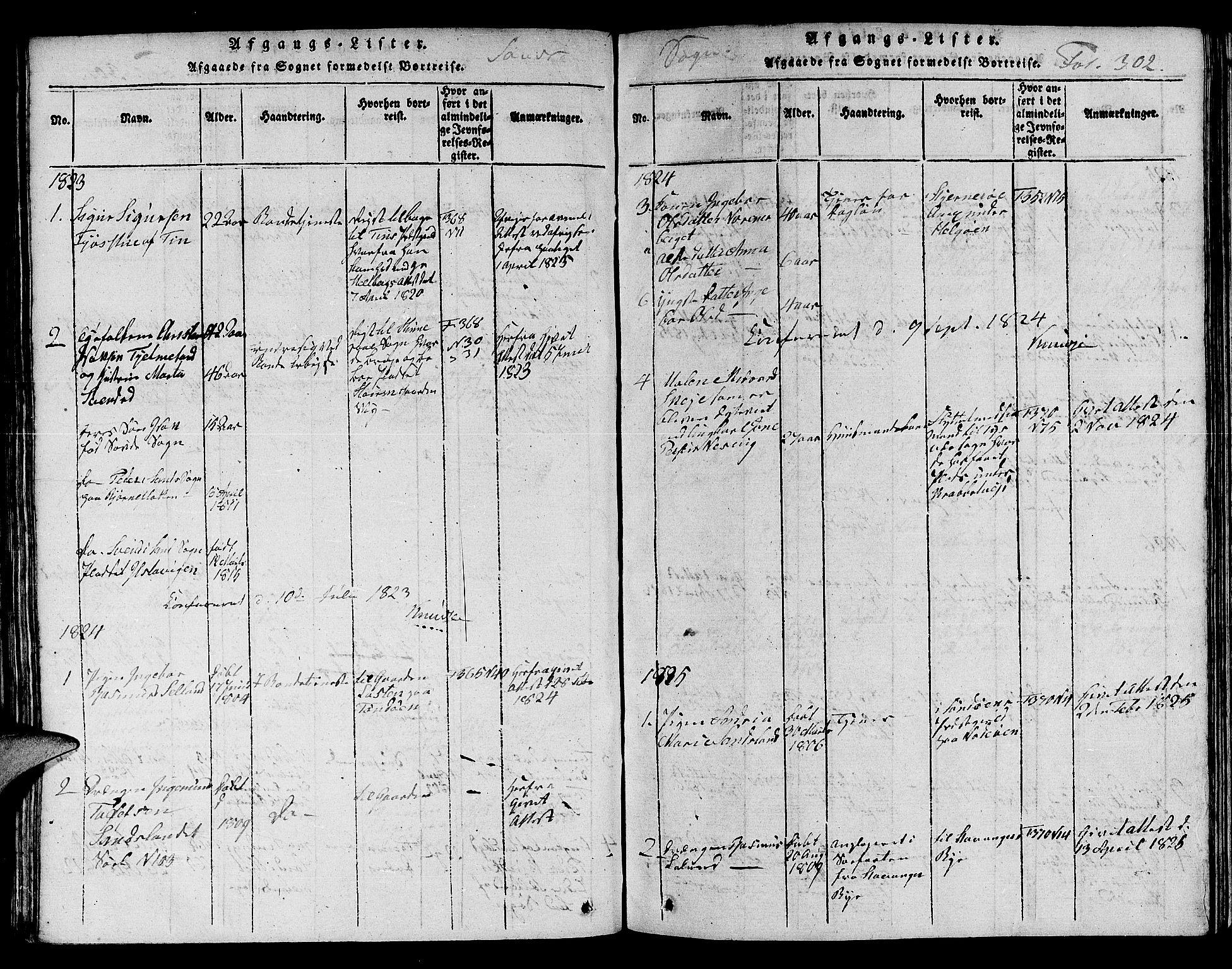 SAST, Jelsa sokneprestkontor, V: Parish register (copy) no. B 1 /2, 1816-1828, p. 302
