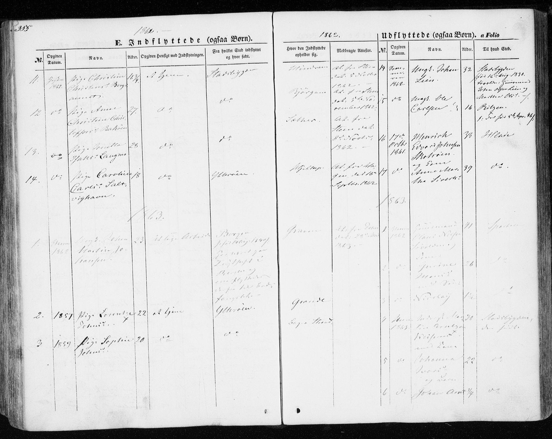 SAT, Ministerialprotokoller, klokkerbøker og fødselsregistre - Nord-Trøndelag, 701/L0008: Parish register (official) no. 701A08 /1, 1854-1863, p. 355