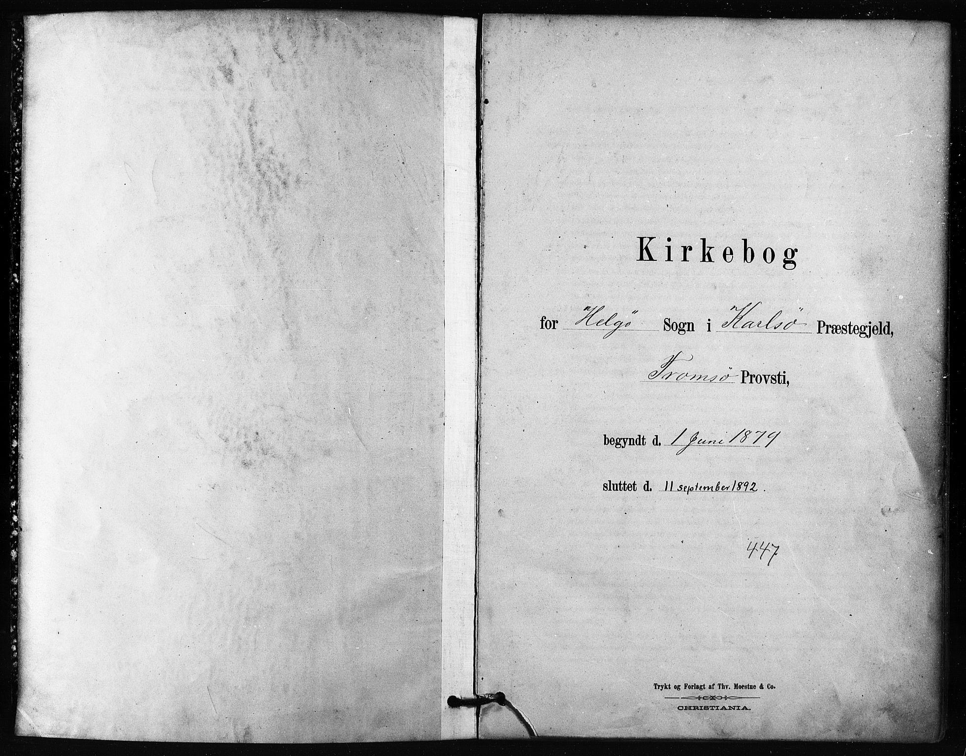 SATØ, Karlsøy sokneprestembete, H/Ha/Haa/L0011kirke: Parish register (official) no. 11, 1879-1892