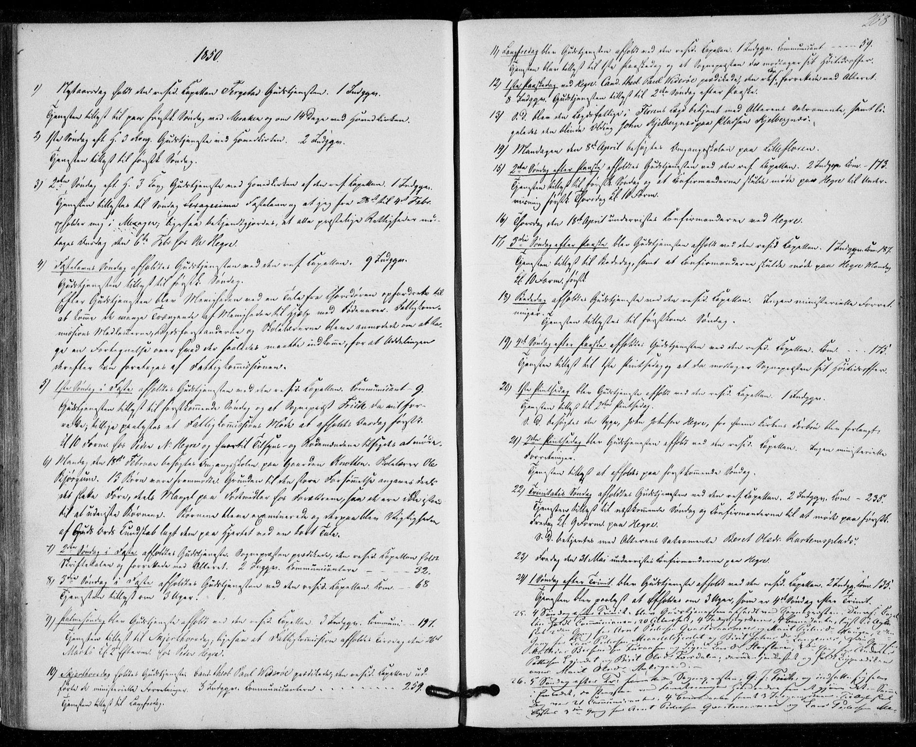 SAT, Ministerialprotokoller, klokkerbøker og fødselsregistre - Nord-Trøndelag, 703/L0028: Parish register (official) no. 703A01, 1850-1862, p. 208