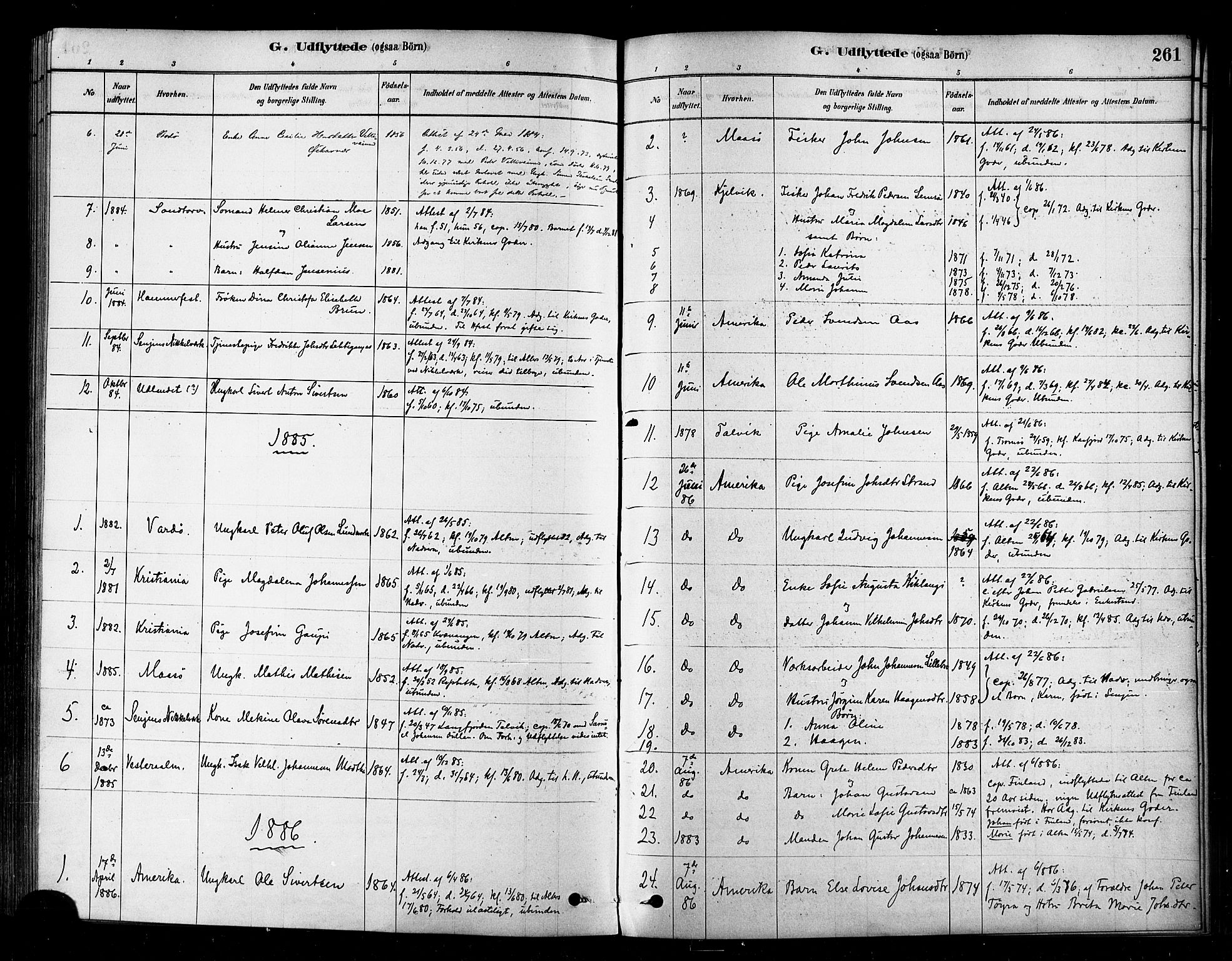 SATØ, Alta sokneprestembete, Parish register (official) no. 2, 1879-1892, p. 261