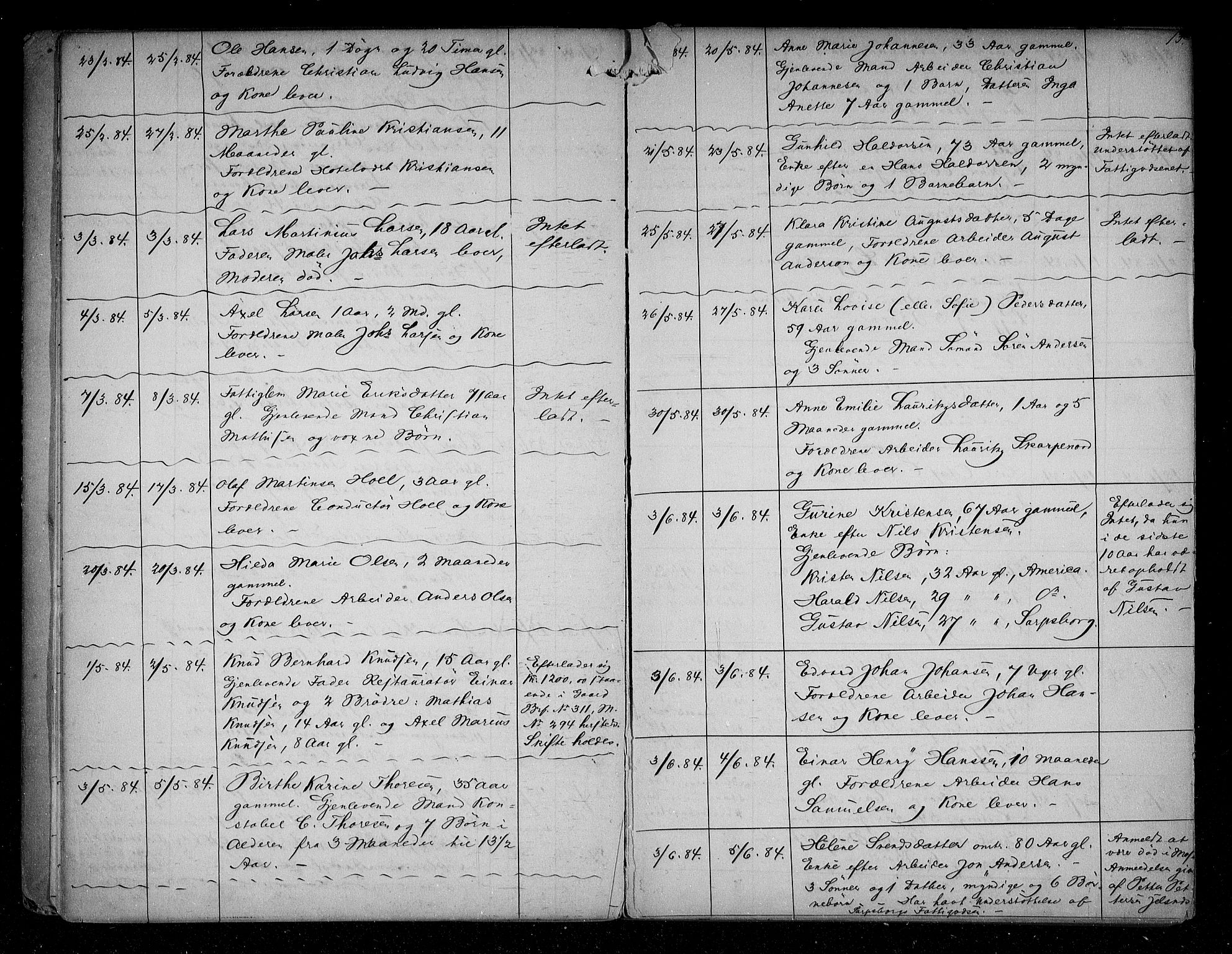 SAO, Sarpsborg byfogd, H/Ha/Haa/L0001: Dødsfallsprotokoll, 1880-1904, p. 12b-13a