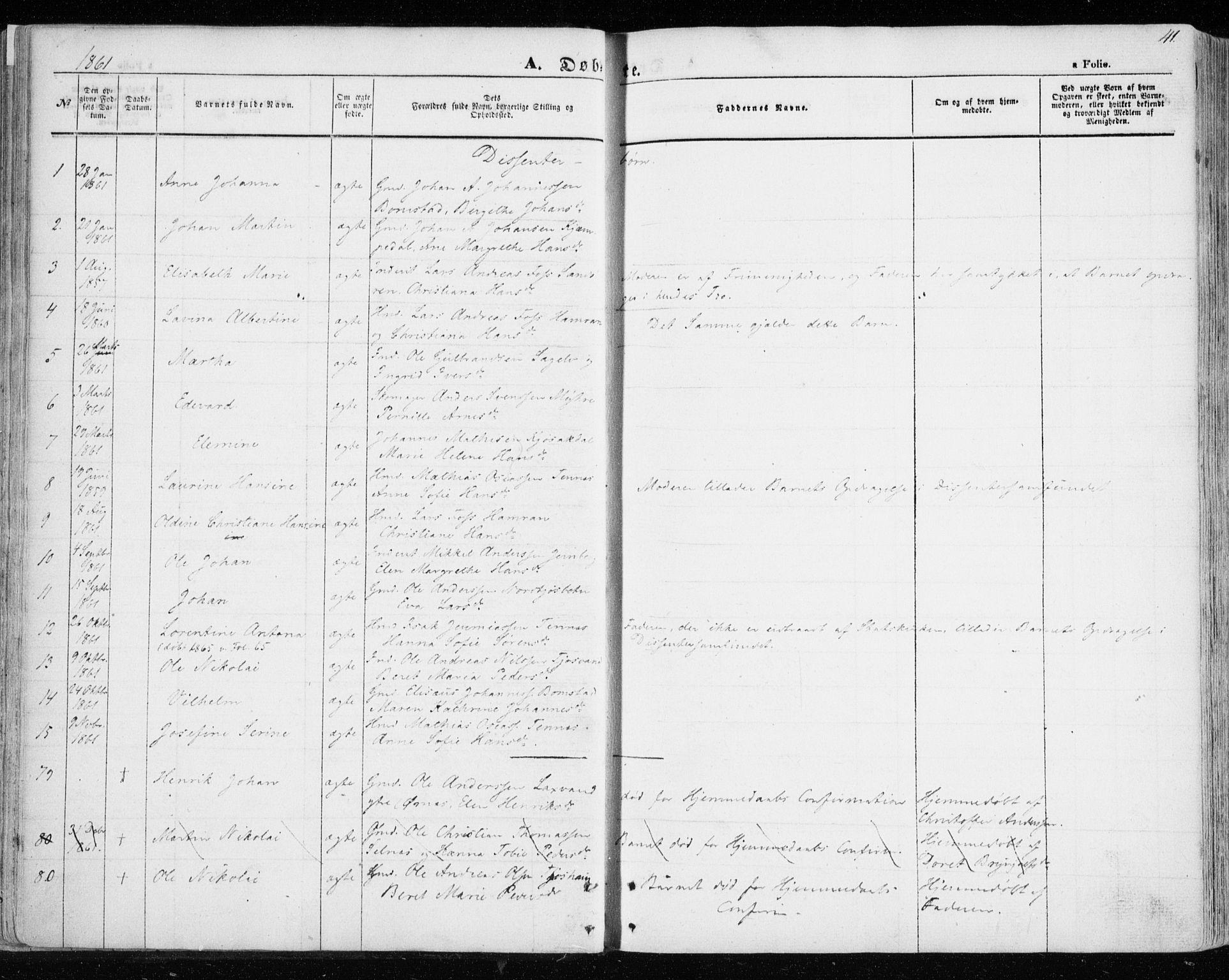 SATØ, Balsfjord sokneprestembete, Parish register (official) no. 3, 1856-1870, p. 41