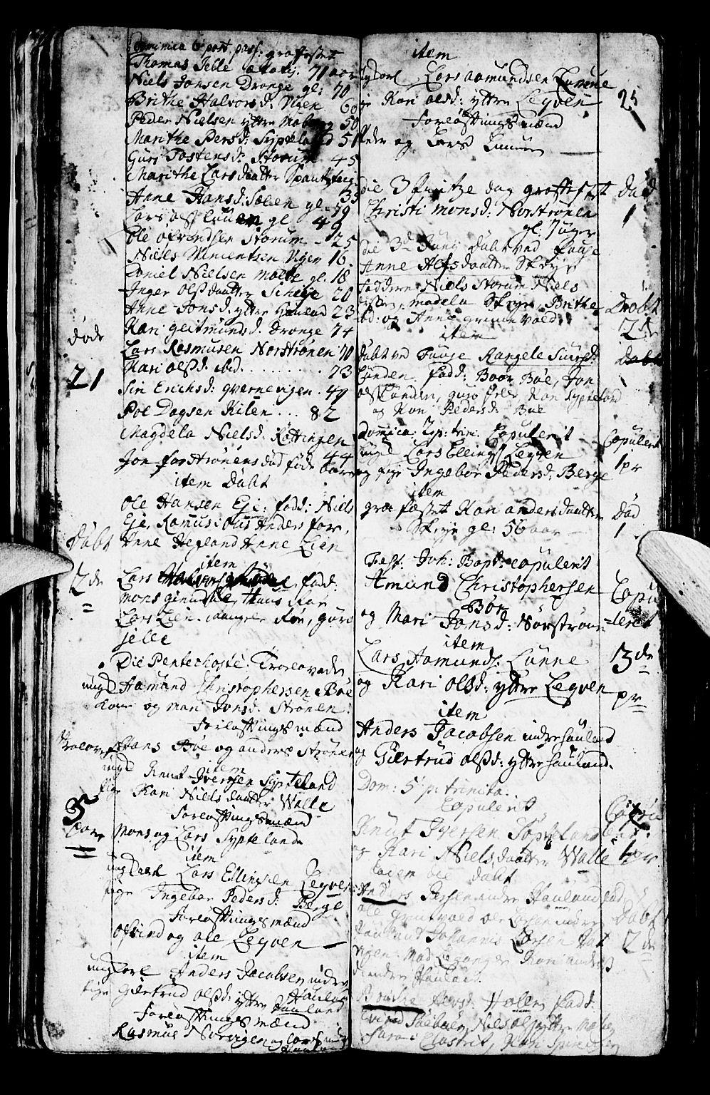 SAB, Os sokneprestembete*, Parish register (official) no. A 2, 1723-1758, p. 25