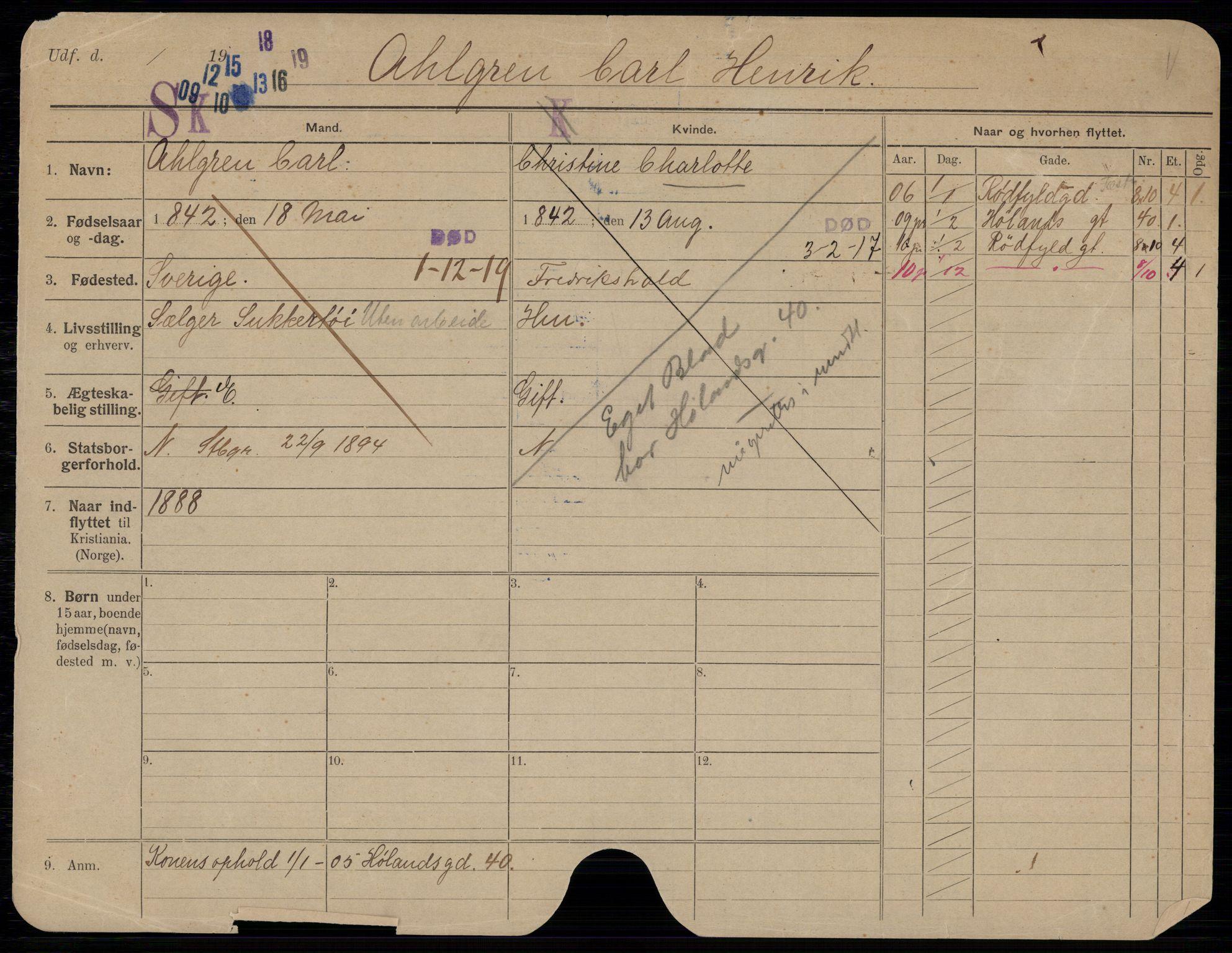 SAO, Oslo folkeregister, Registerkort, G/Gb/L0028: Menn, 1919