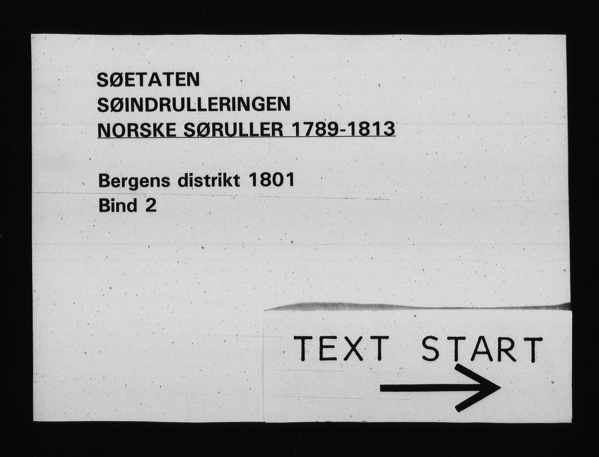 RA, Sjøetaten, F/L0234: Bergen distrikt, bind 2, 1801