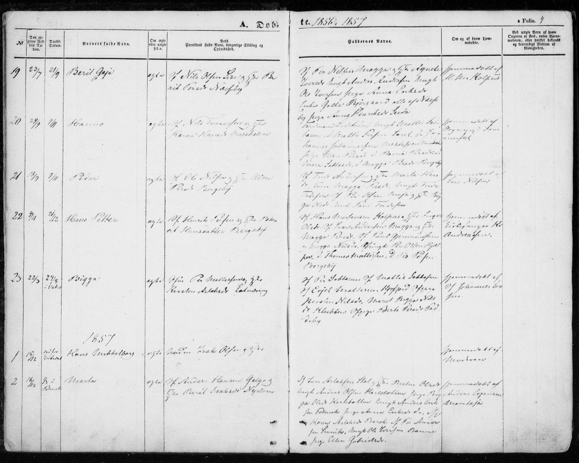 SATØ, Nesseby sokneprestkontor, H/Ha/L0002kirke: Parish register (official) no. 2, 1856-1864, p. 4