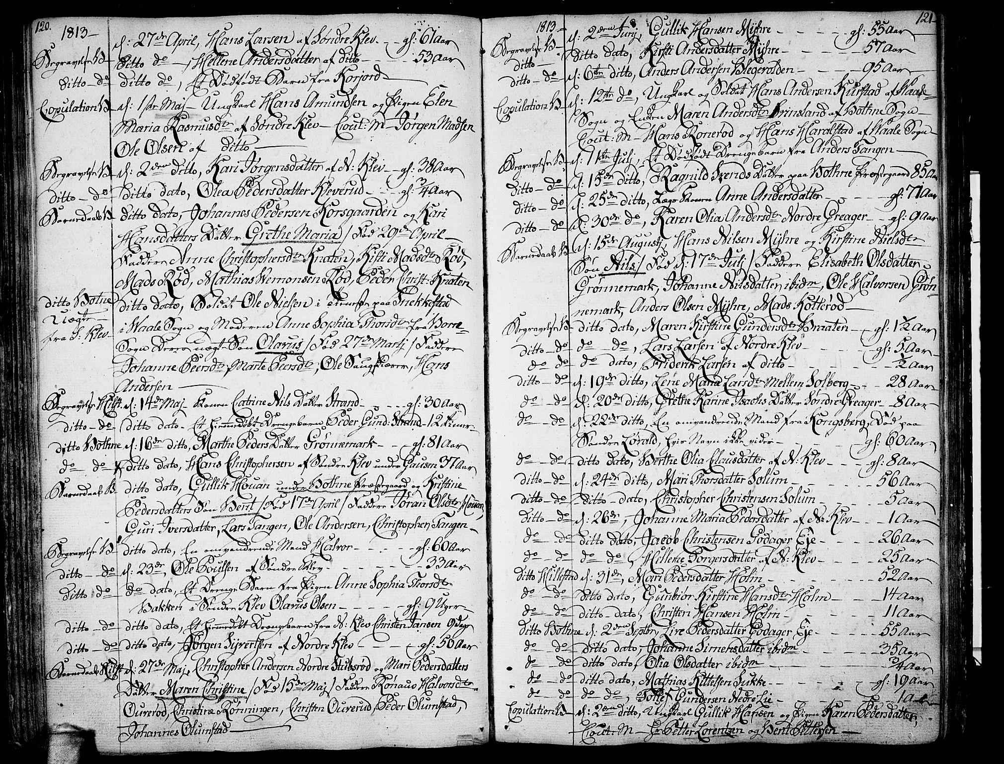 SAKO, Botne kirkebøker, F/Fa/L0003: Parish register (official) no. I 3 /1, 1792-1844, p. 120-121