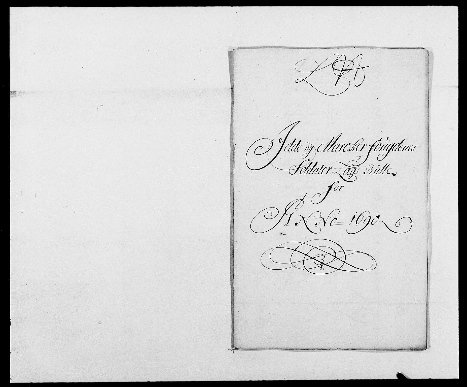 RA, Rentekammeret inntil 1814, Reviderte regnskaper, Fogderegnskap, R01/L0010: Fogderegnskap Idd og Marker, 1690-1691, p. 247