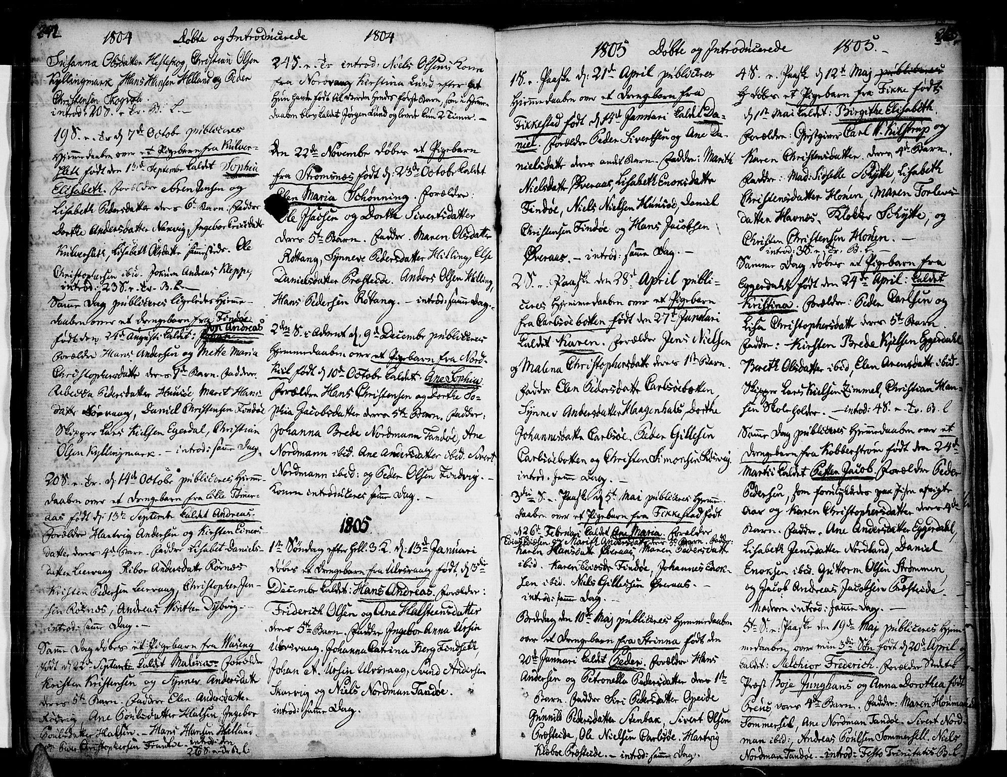 SAT, Ministerialprotokoller, klokkerbøker og fødselsregistre - Nordland, 859/L0841: Parish register (official) no. 859A01, 1766-1821, p. 242-243