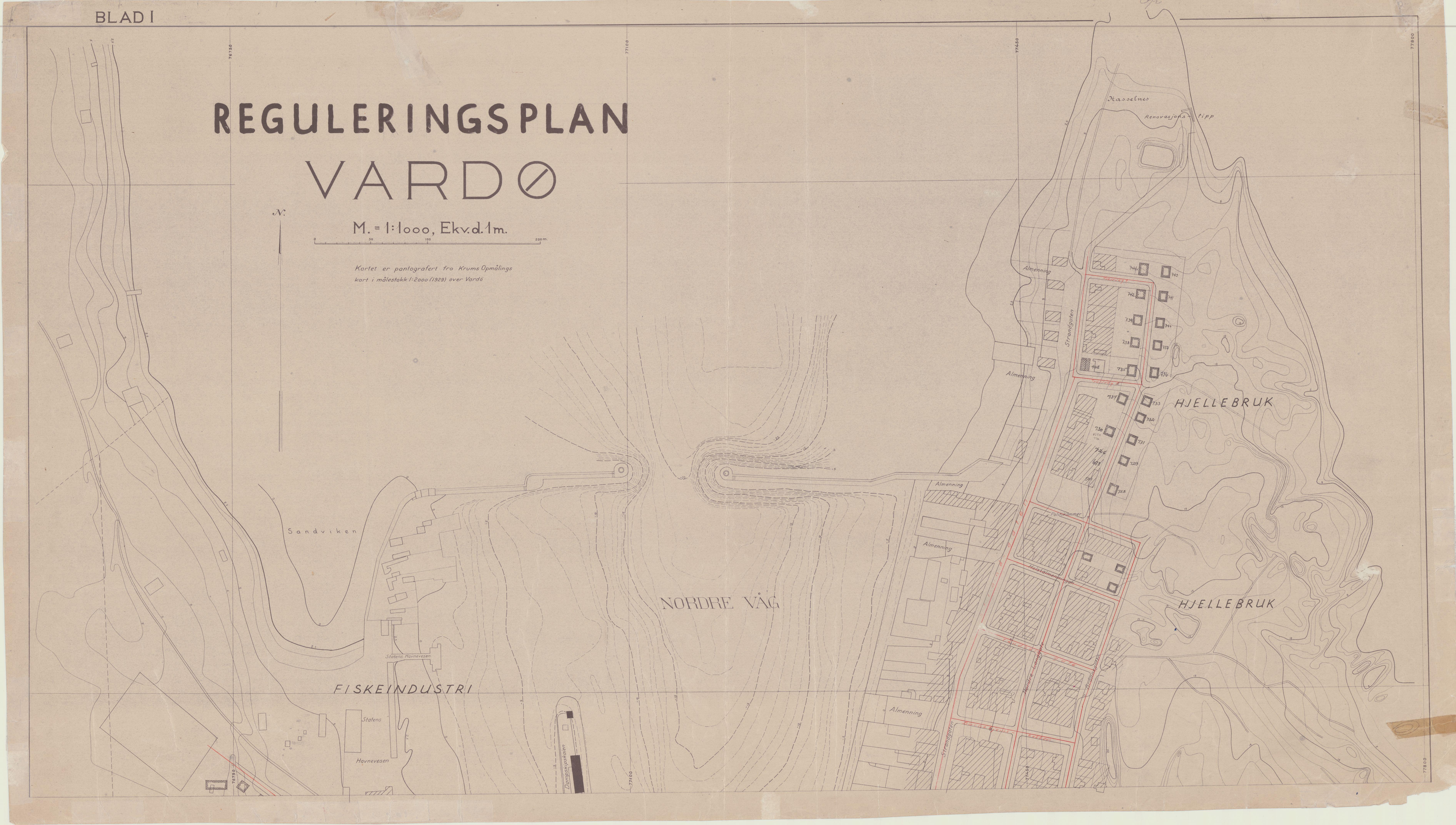 VAMU, Vardø kommune / Teknisk Næring Plan og Kultur, 1945-1946