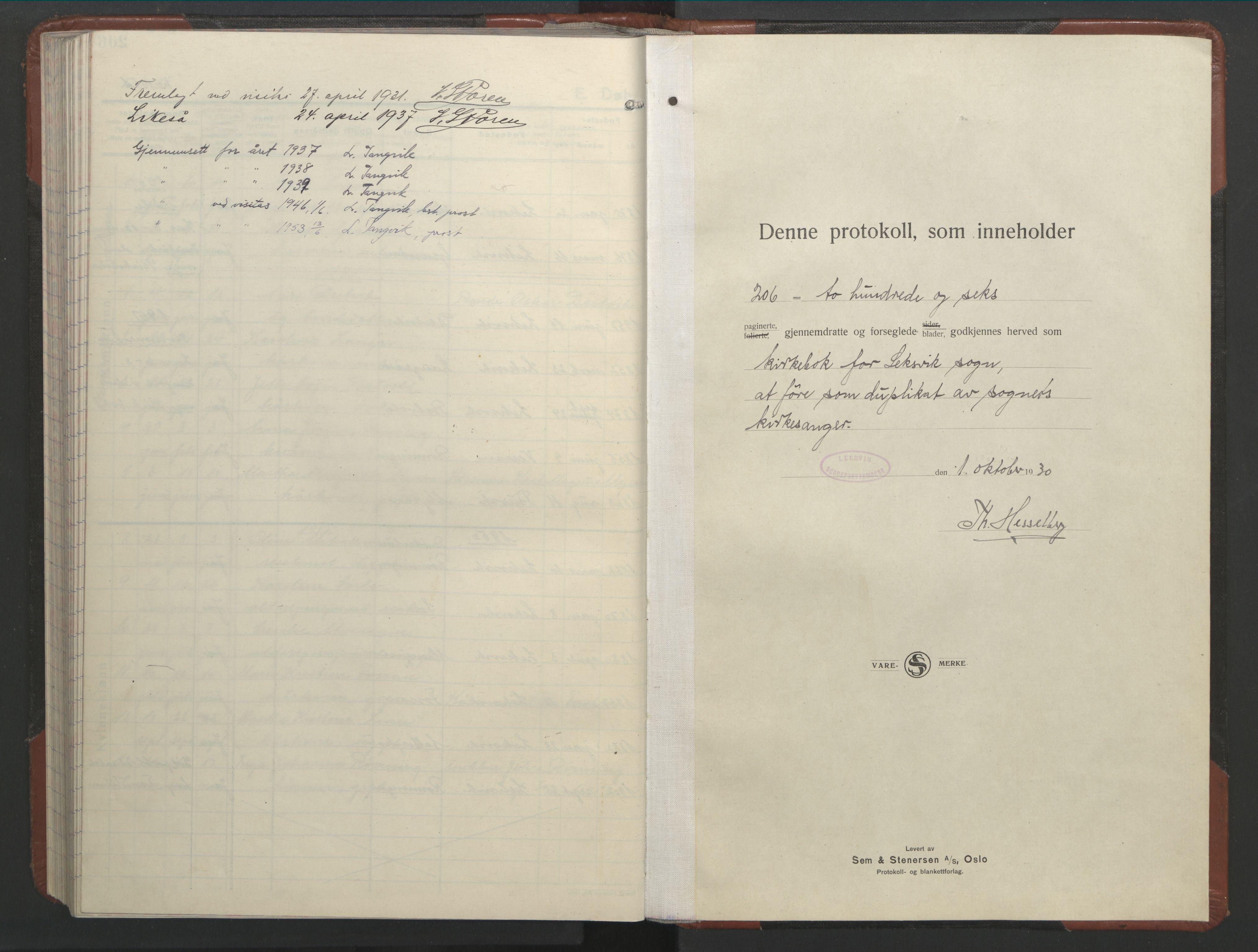 SAT, Ministerialprotokoller, klokkerbøker og fødselsregistre - Nord-Trøndelag, 701/L0019: Parish register (copy) no. 701C03, 1930-1953